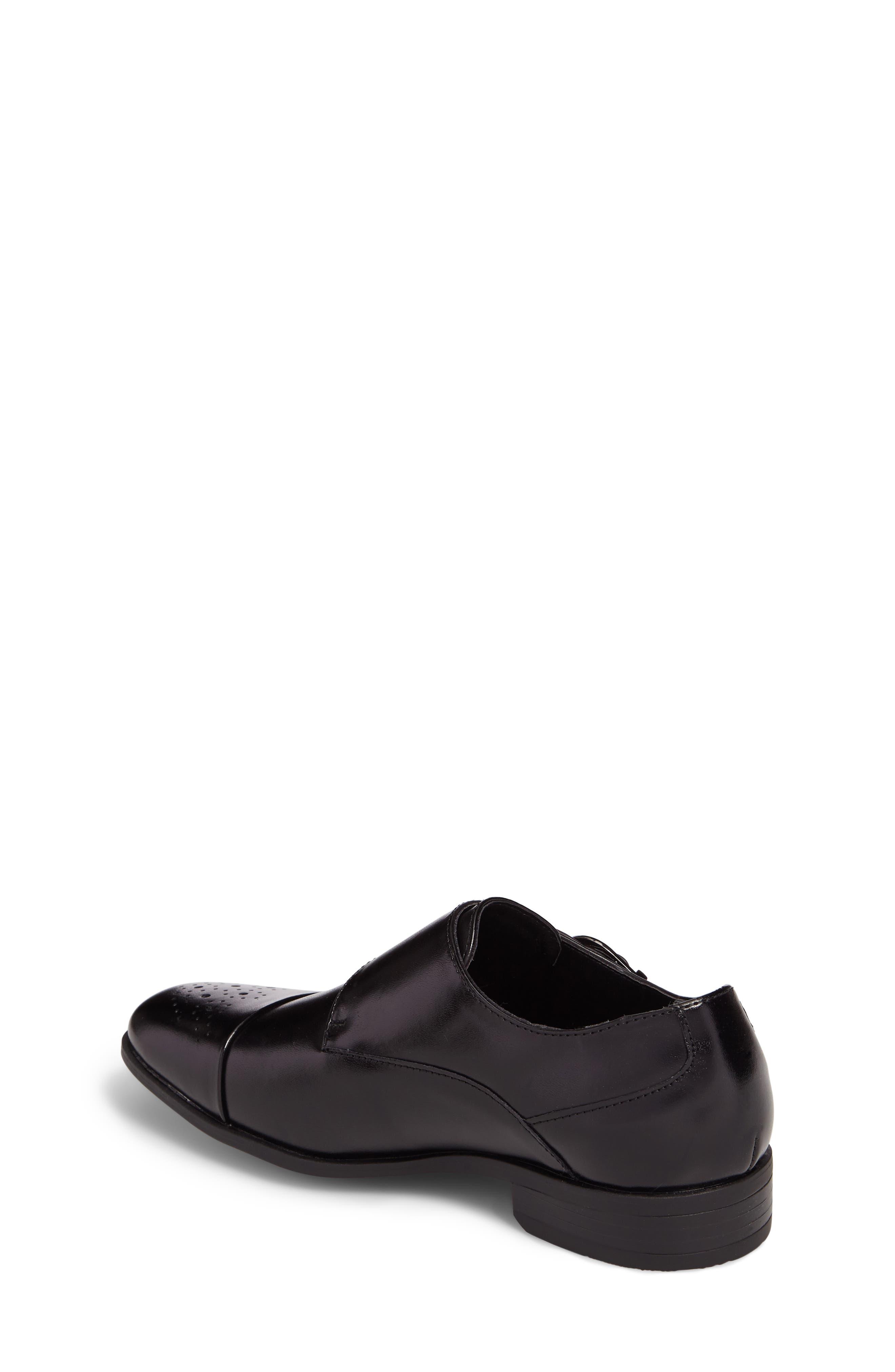 Trevor Cap Toe Monk Shoe,                             Alternate thumbnail 2, color,                             001