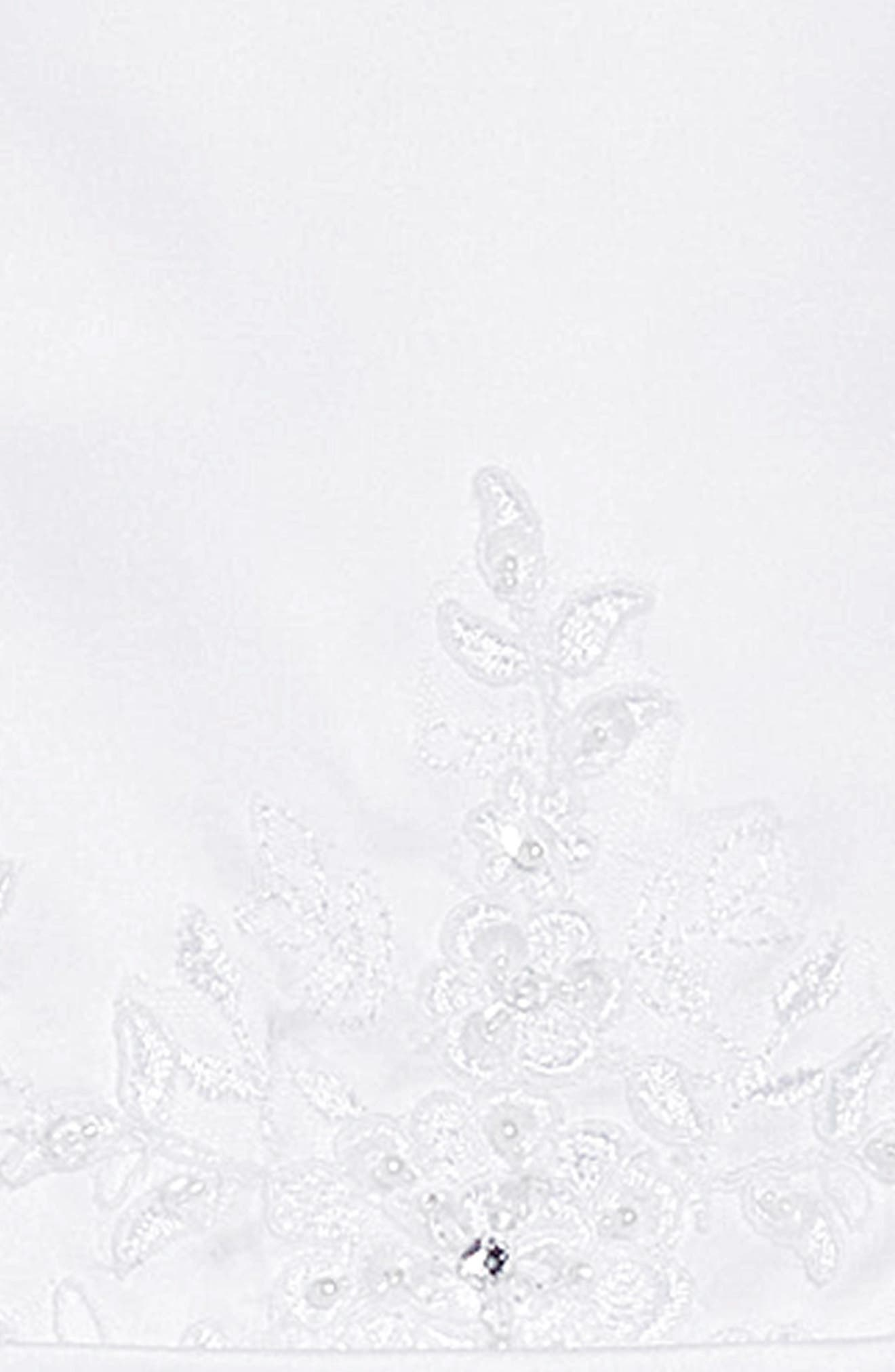 Beaded First Communion Dress,                             Alternate thumbnail 5, color,                             WHITE