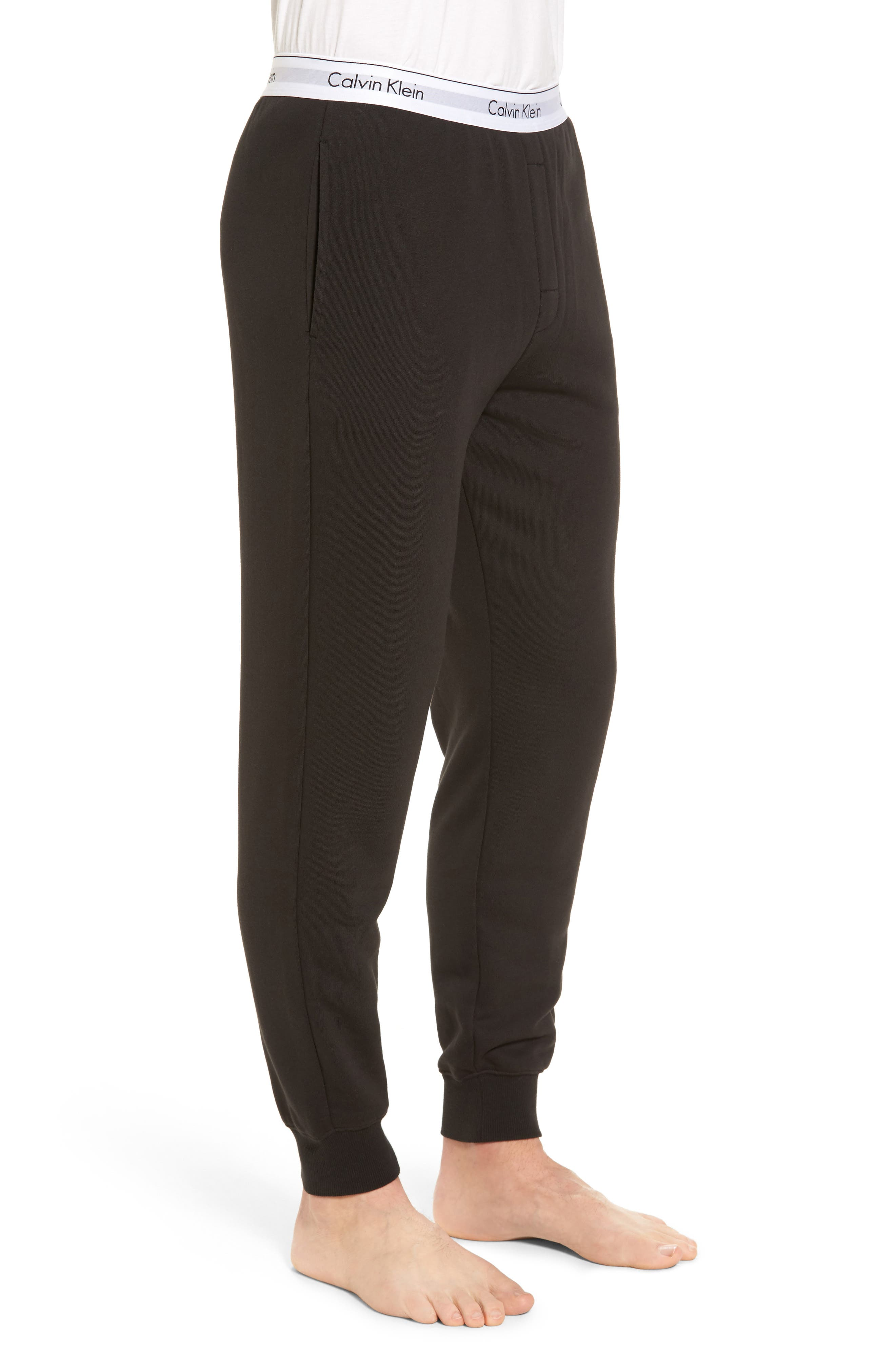 Modern Cotton Blend Lounge Pants,                             Alternate thumbnail 3, color,                             002