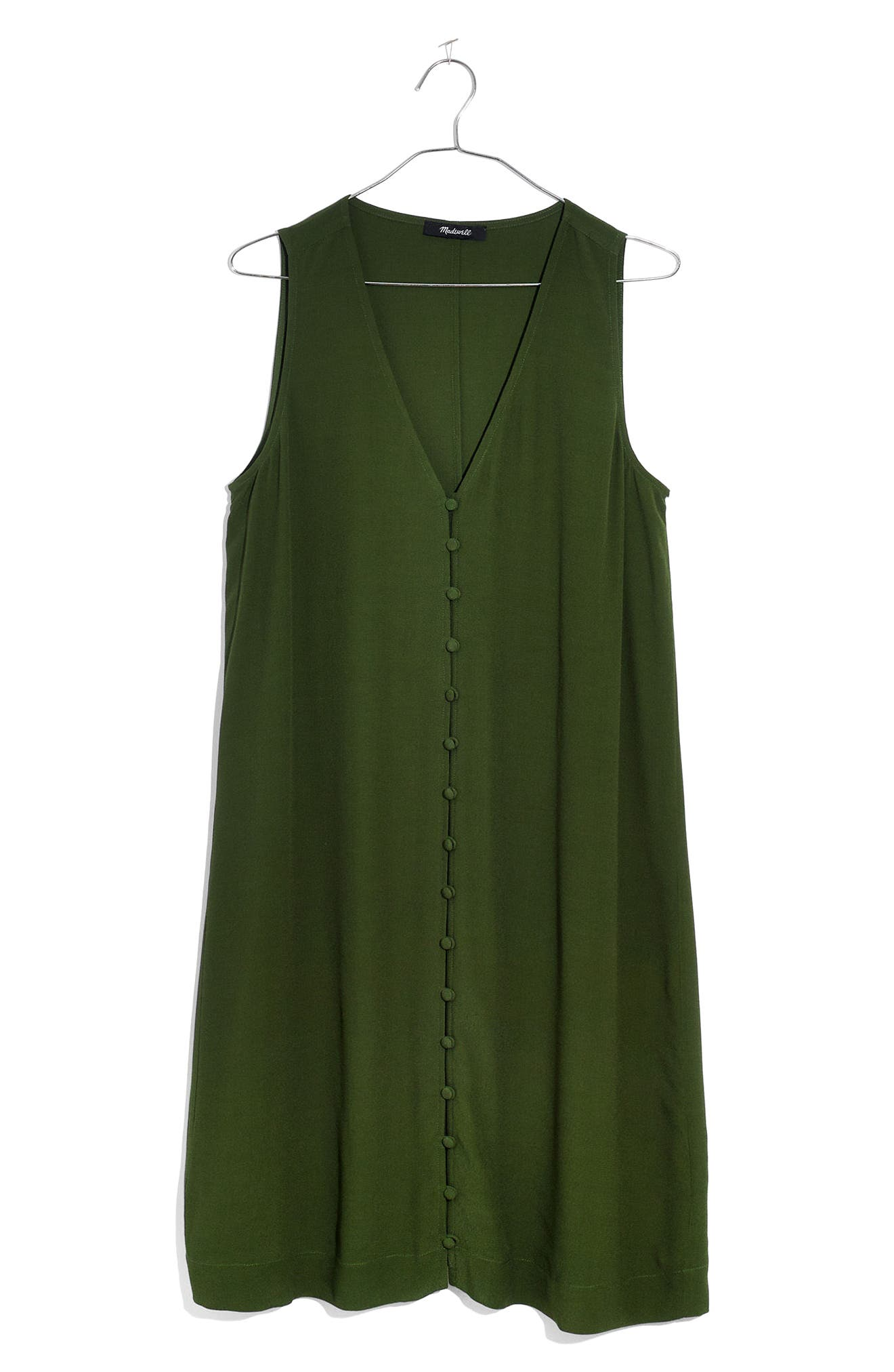 Heather Button Front Dress,                             Alternate thumbnail 3, color,                             SWEET BALSAM