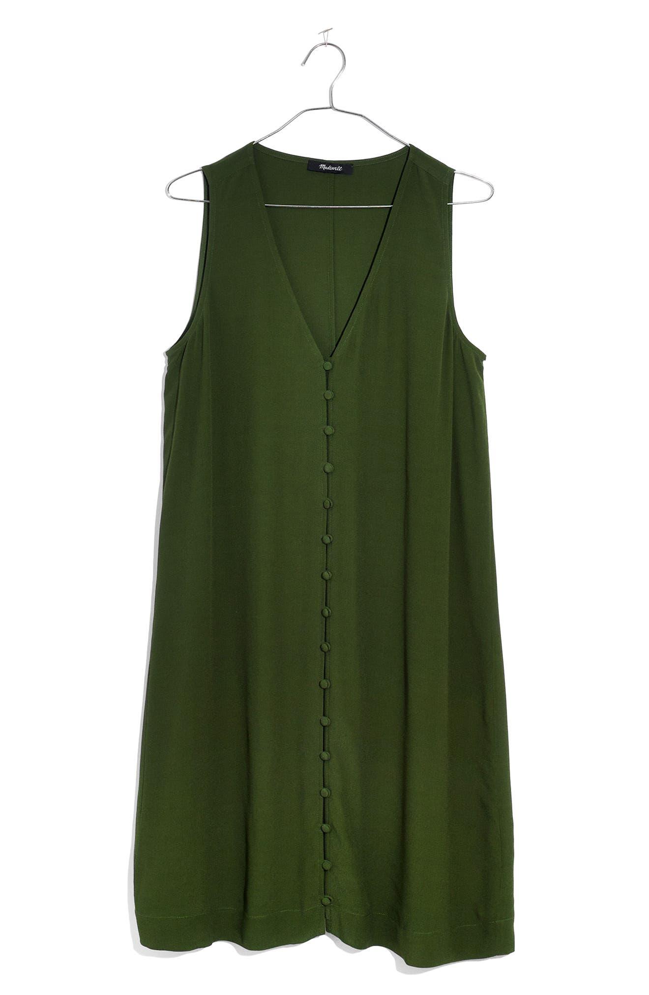 Heather Button Front Dress,                             Alternate thumbnail 3, color,                             300