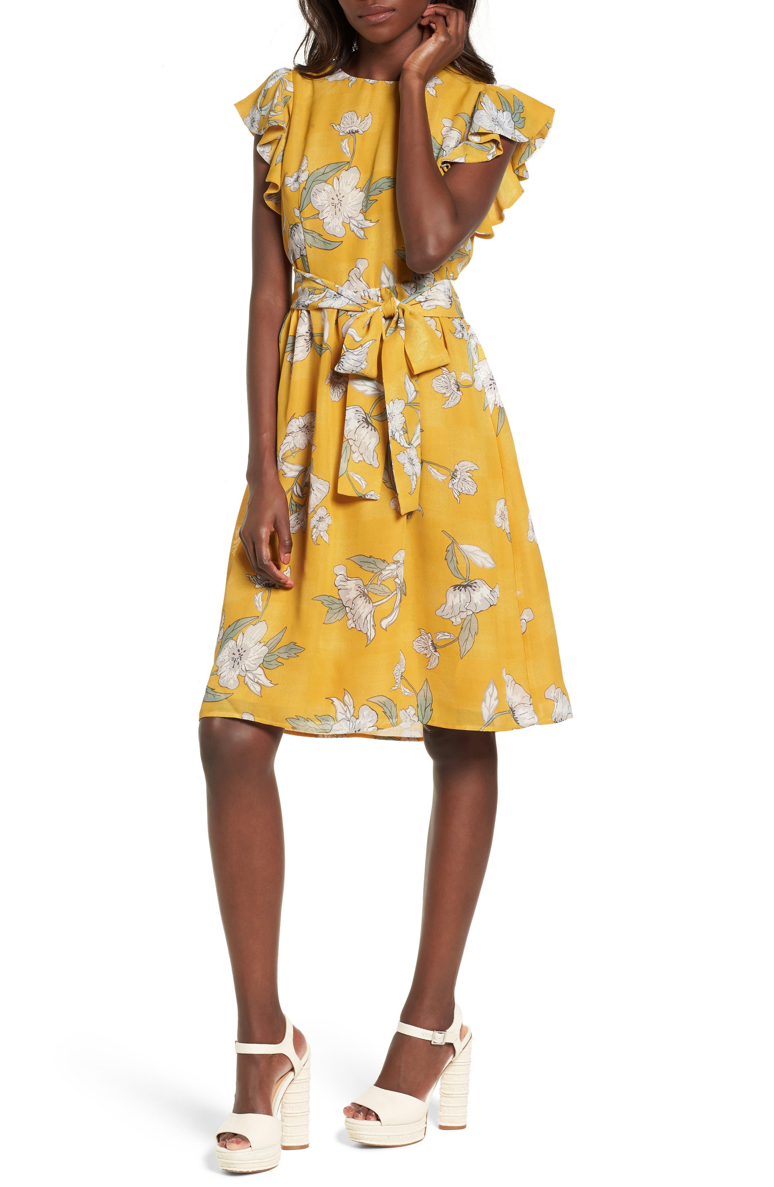 Chriselle x J.O.A. Fit & Flare Dress,                         Main,                         color, 700