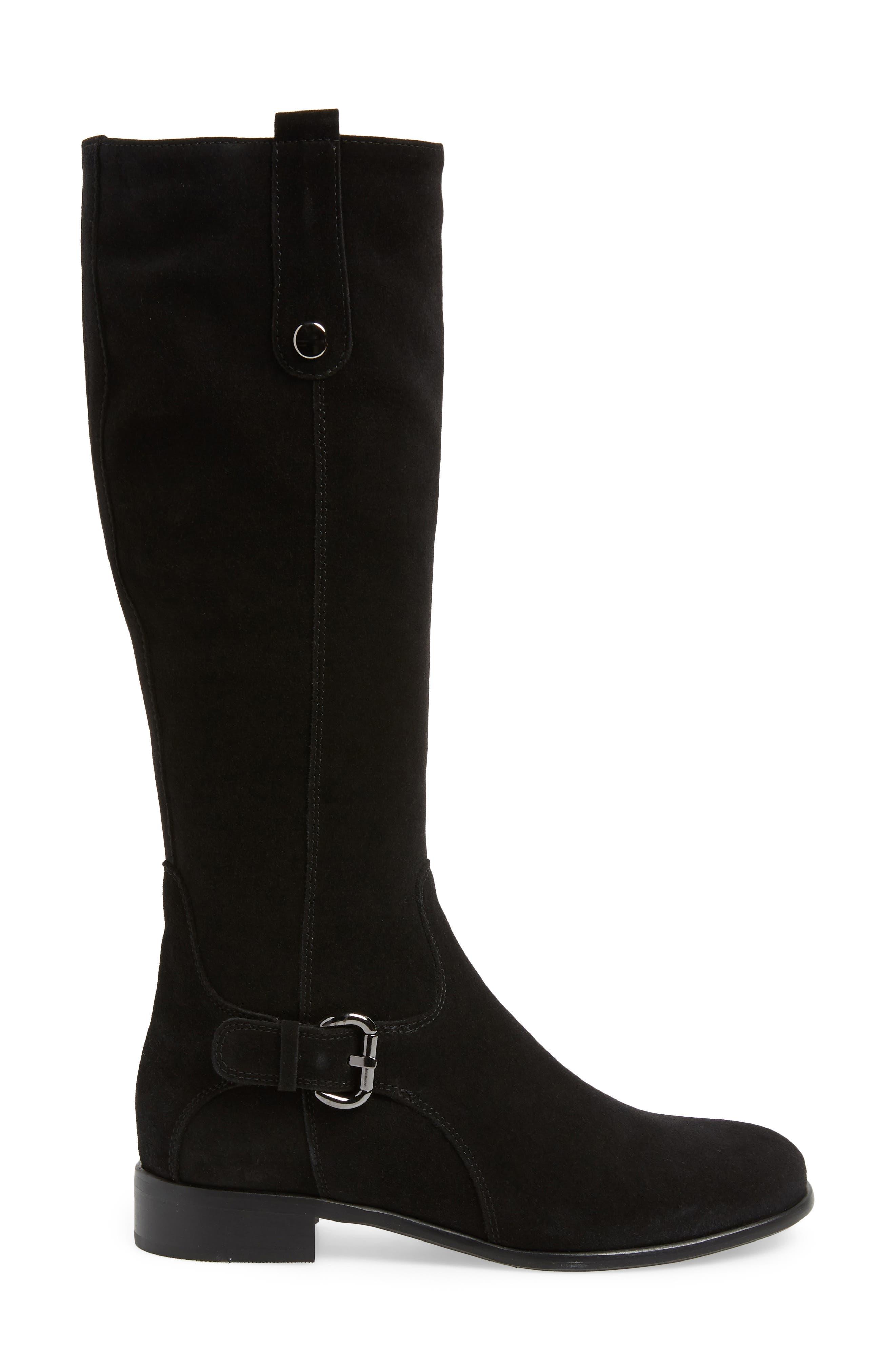 'Stefanie' Waterproof Boot,                             Alternate thumbnail 3, color,                             BLACK SUEDE