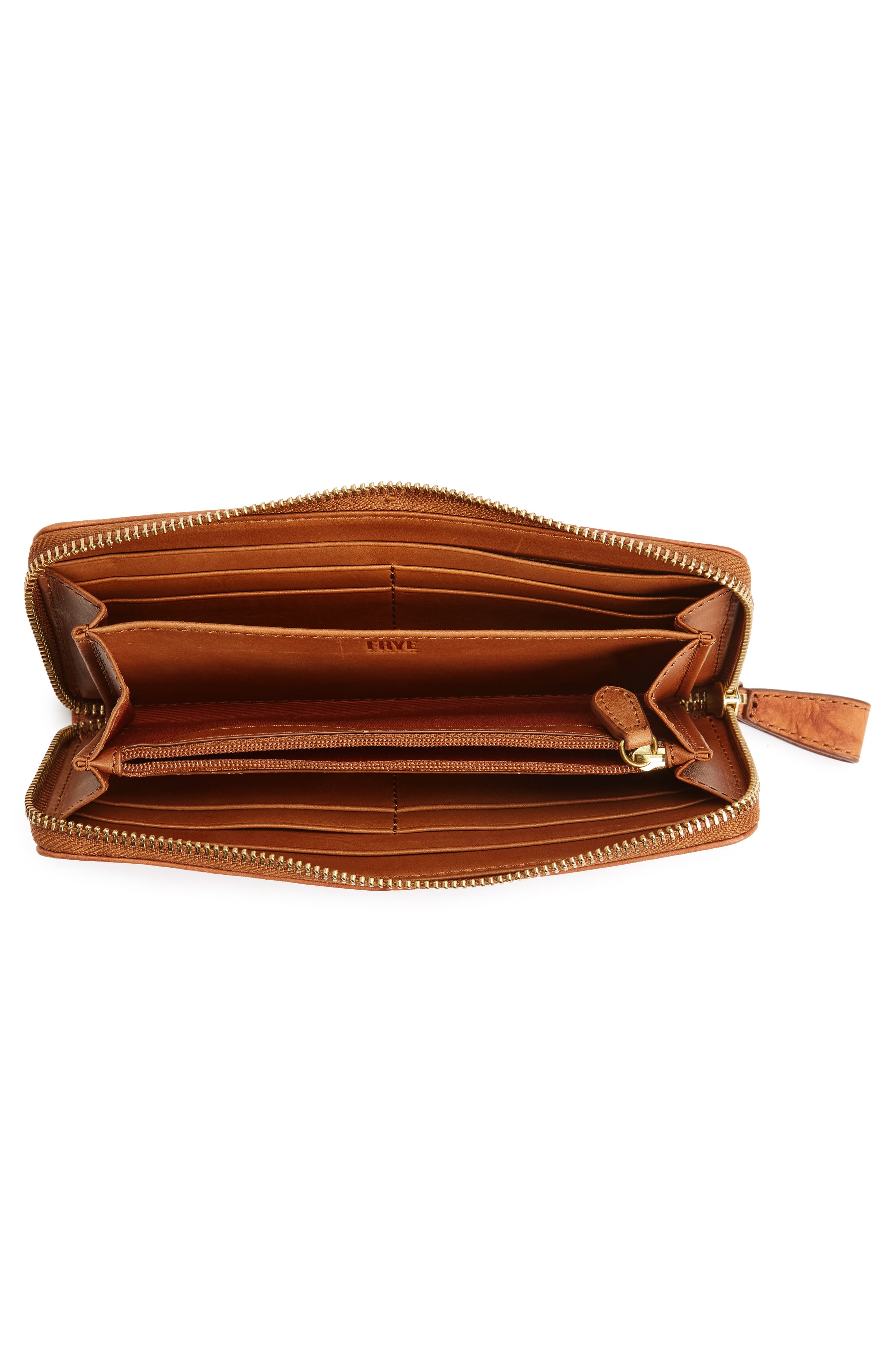 Campus Rivet Leather Continental Zip Wallet,                             Alternate thumbnail 11, color,