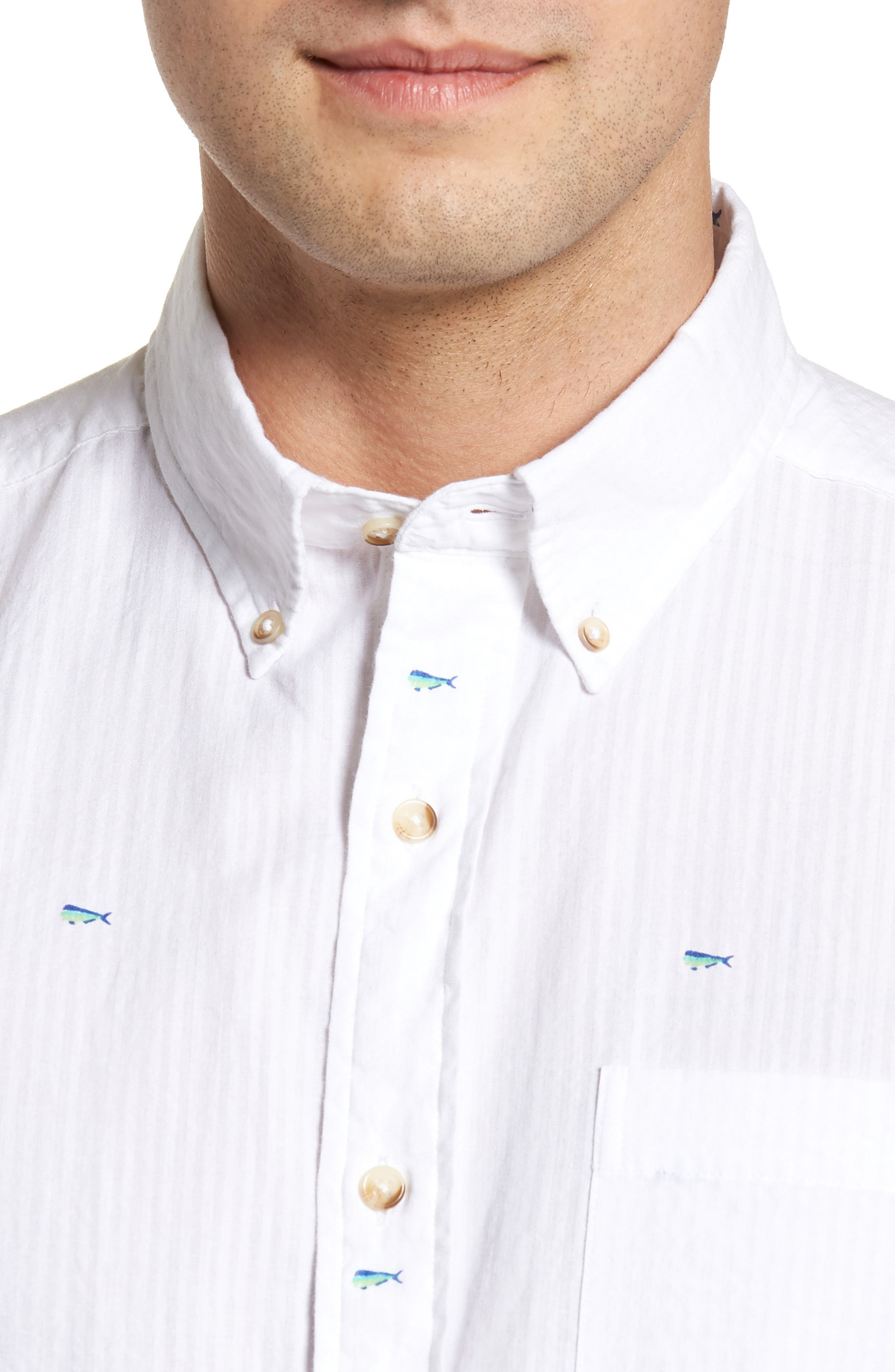 Catch of the Day Sport Shirt,                             Alternate thumbnail 4, color,                             107