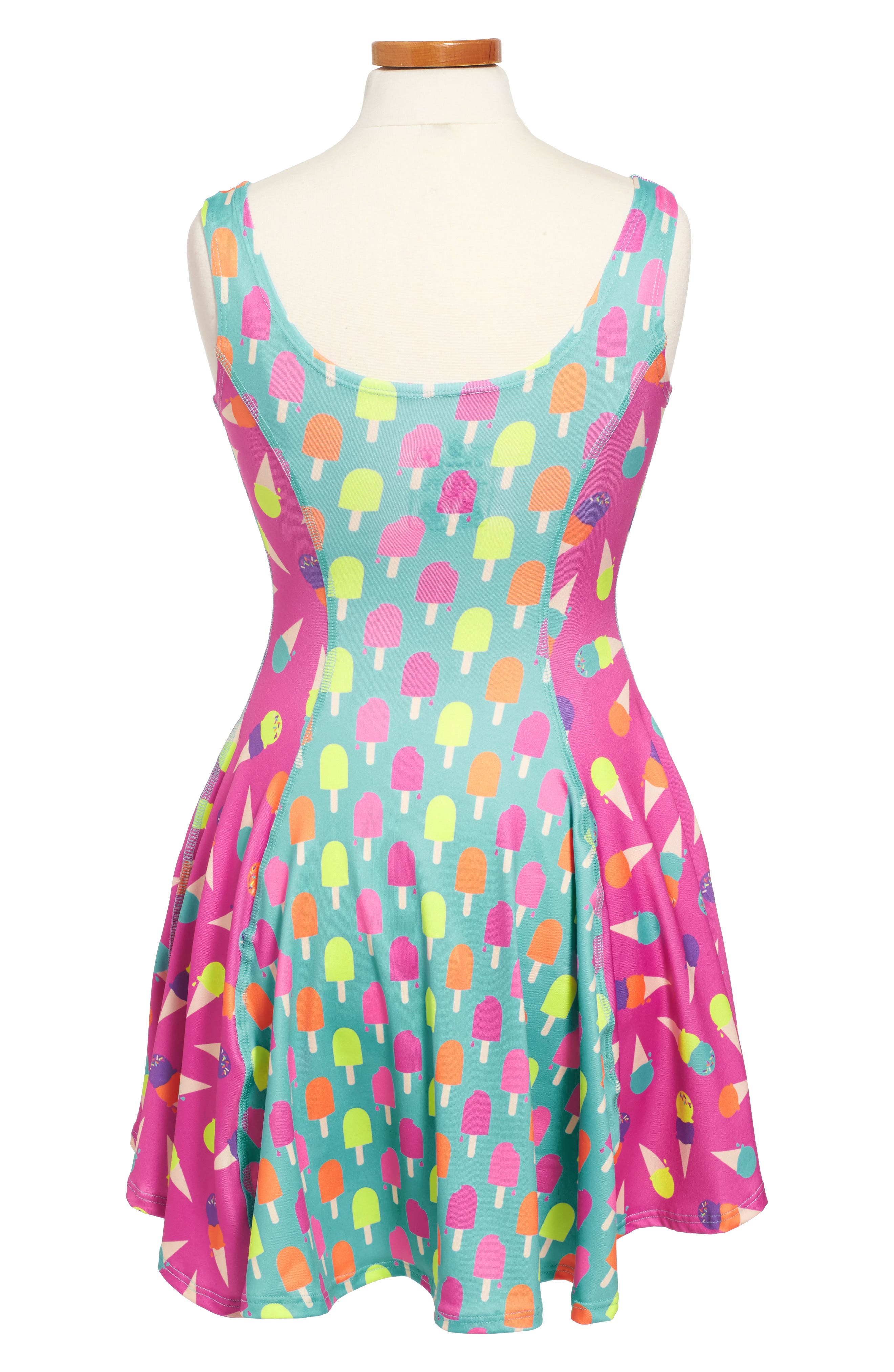 Flow Mixed Print Dress,                             Alternate thumbnail 32, color,