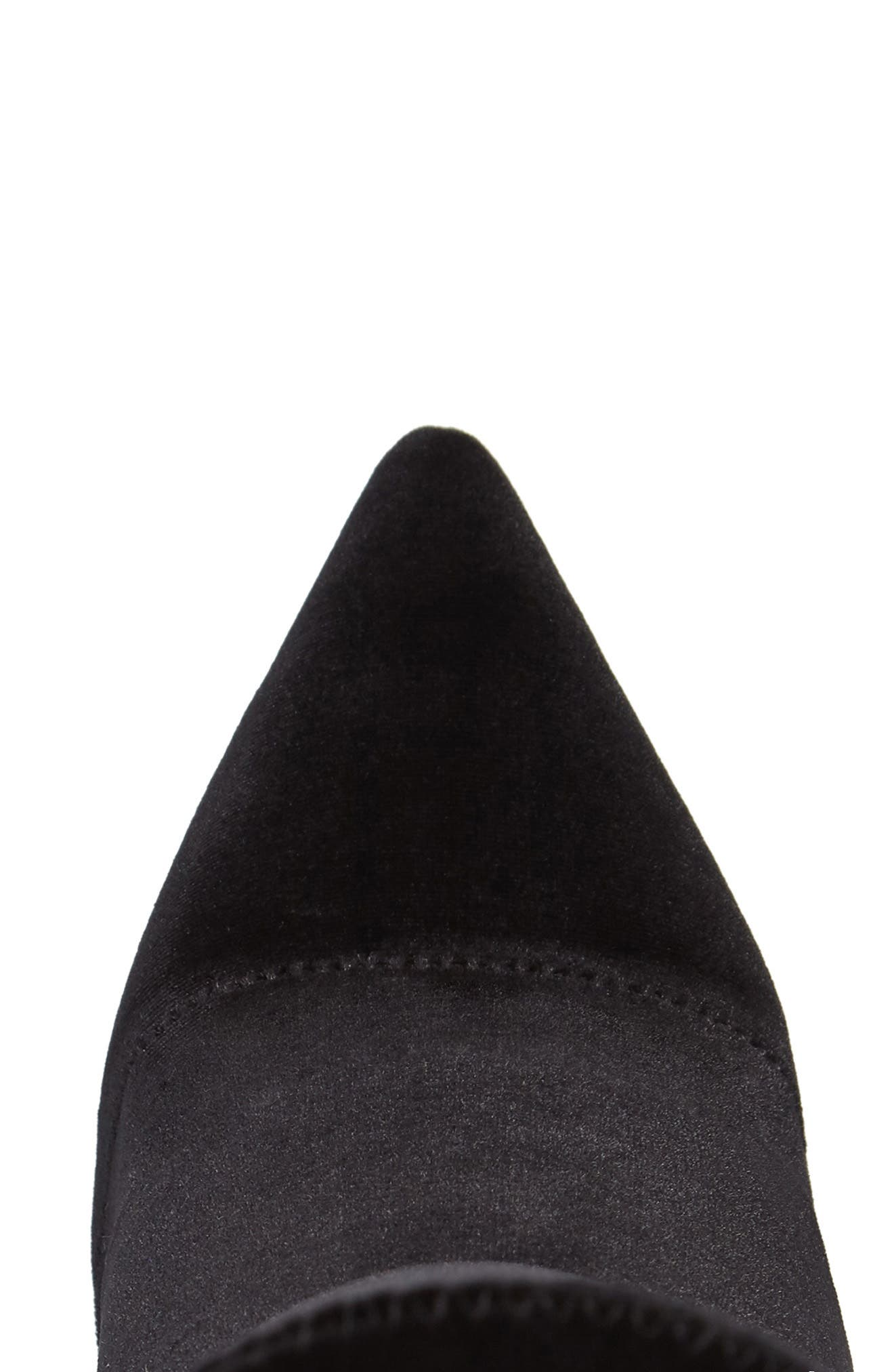 Diddy Velvet Bootie,                             Alternate thumbnail 5, color,                             BLACK FABRIC