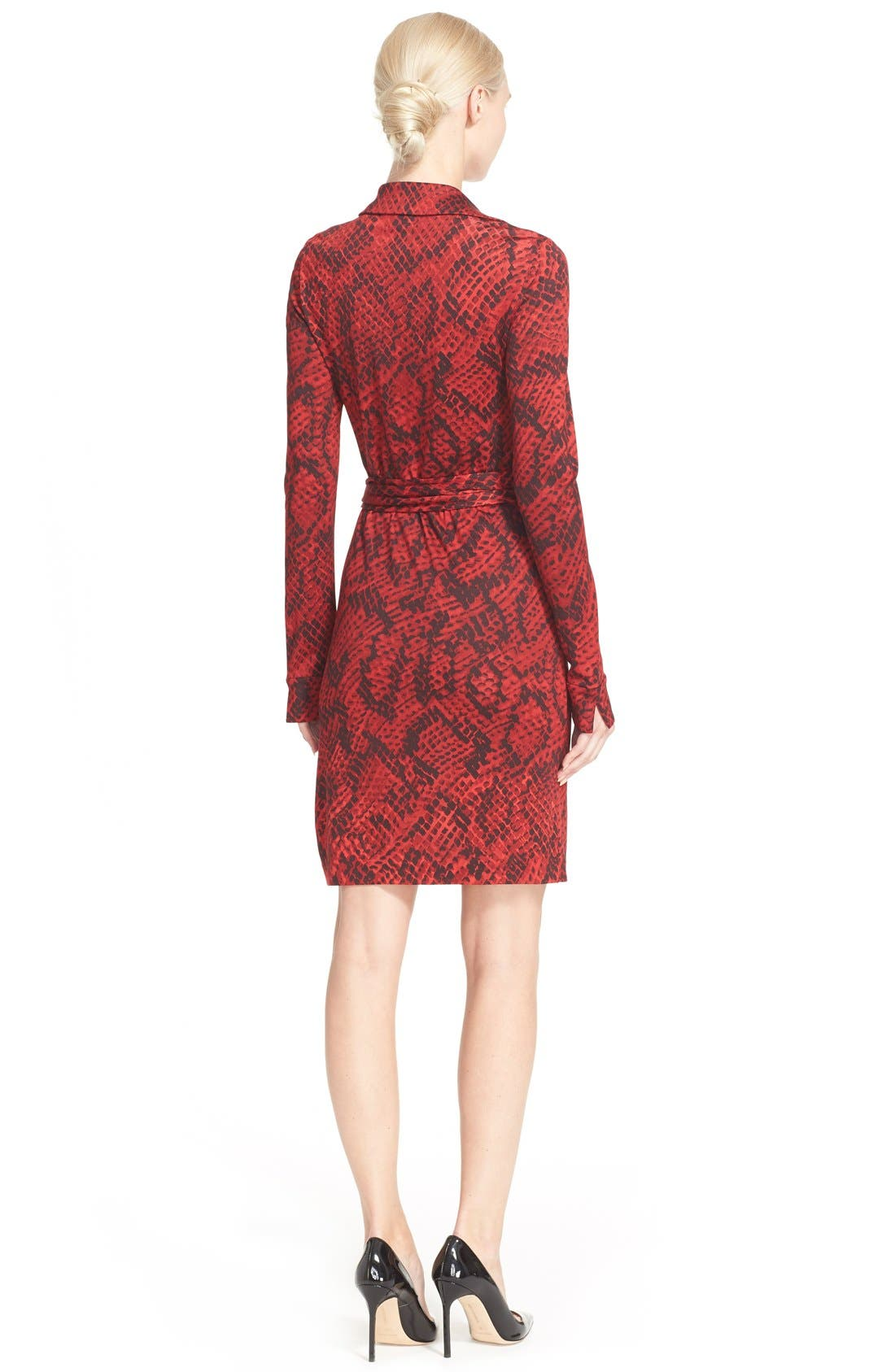 'Savannah' Snake Print Wrap Dress,                             Alternate thumbnail 3, color,                             605