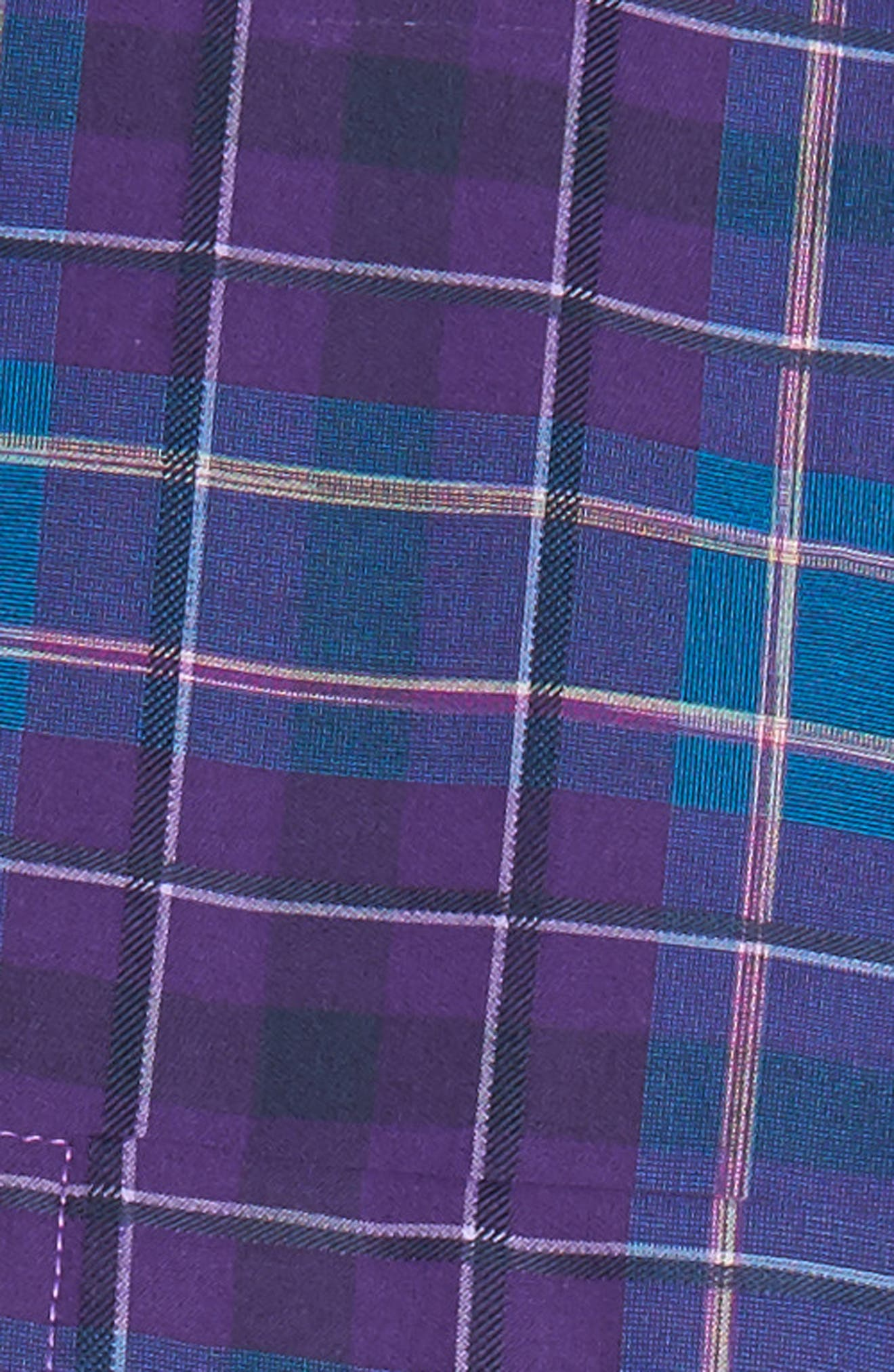 Classic Fit Plaid Sport Shirt,                             Alternate thumbnail 5, color,                             513