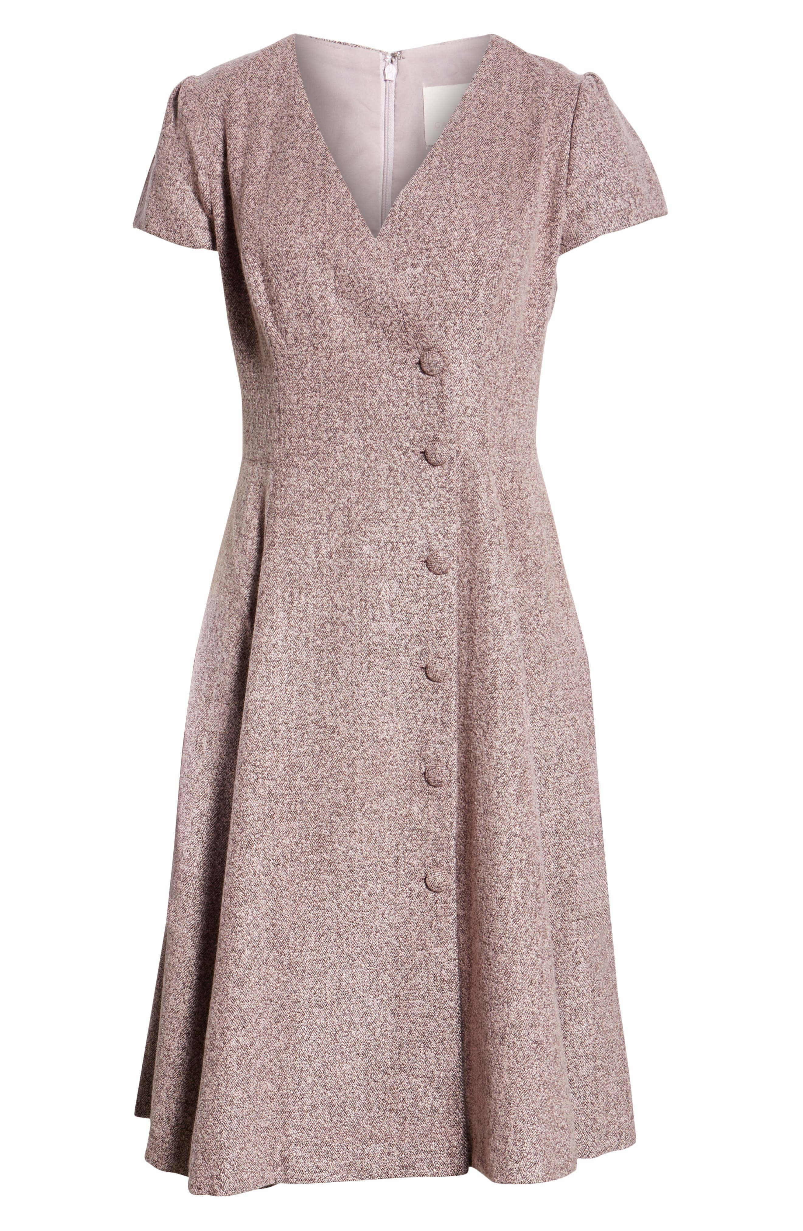 Agatha Dainty Tweed Dress,                             Alternate thumbnail 6, color,                             650