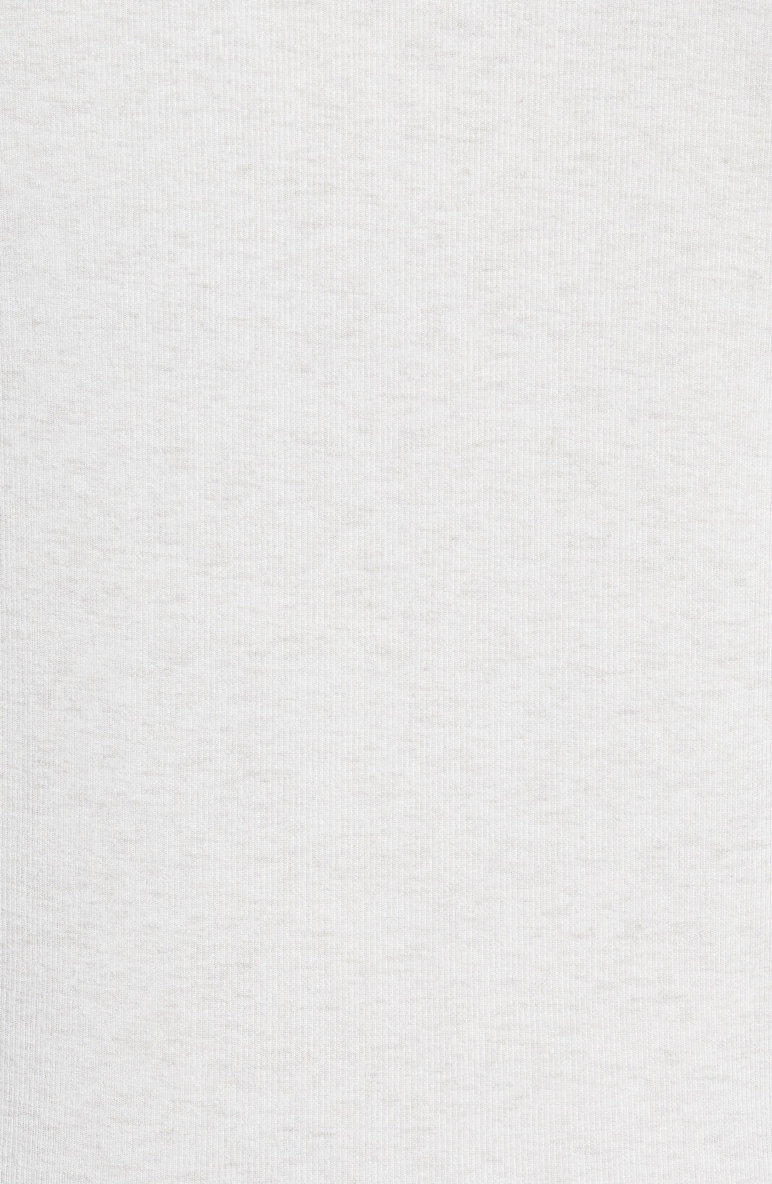 Slim Fit Rib Knit Henley,                             Alternate thumbnail 5, color,                             HEATHER GREY