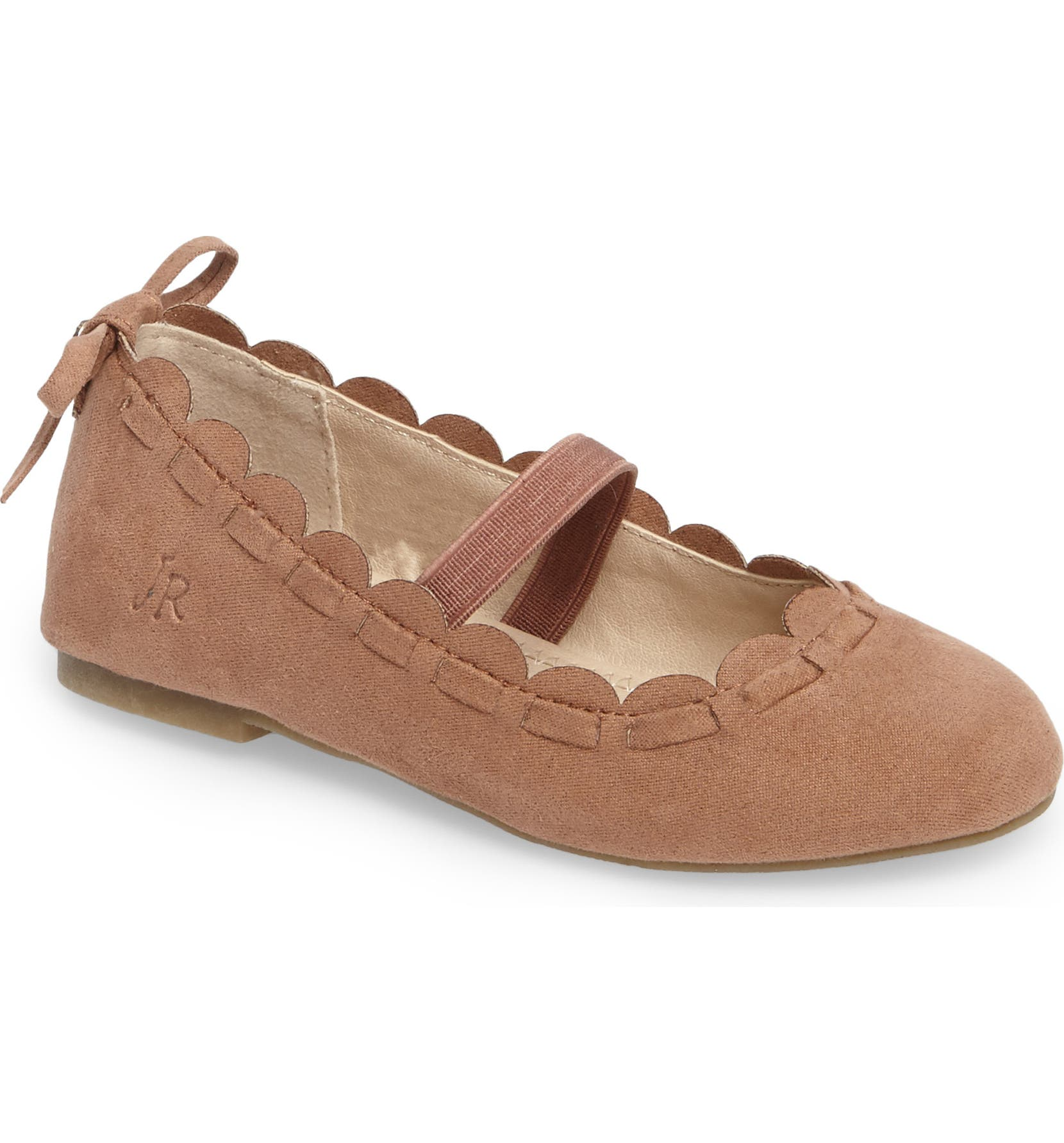 5829cd802a8 Jack Rogers Little Miss Lucie Scalloped Mary Jane Flat (Walker   Toddler)