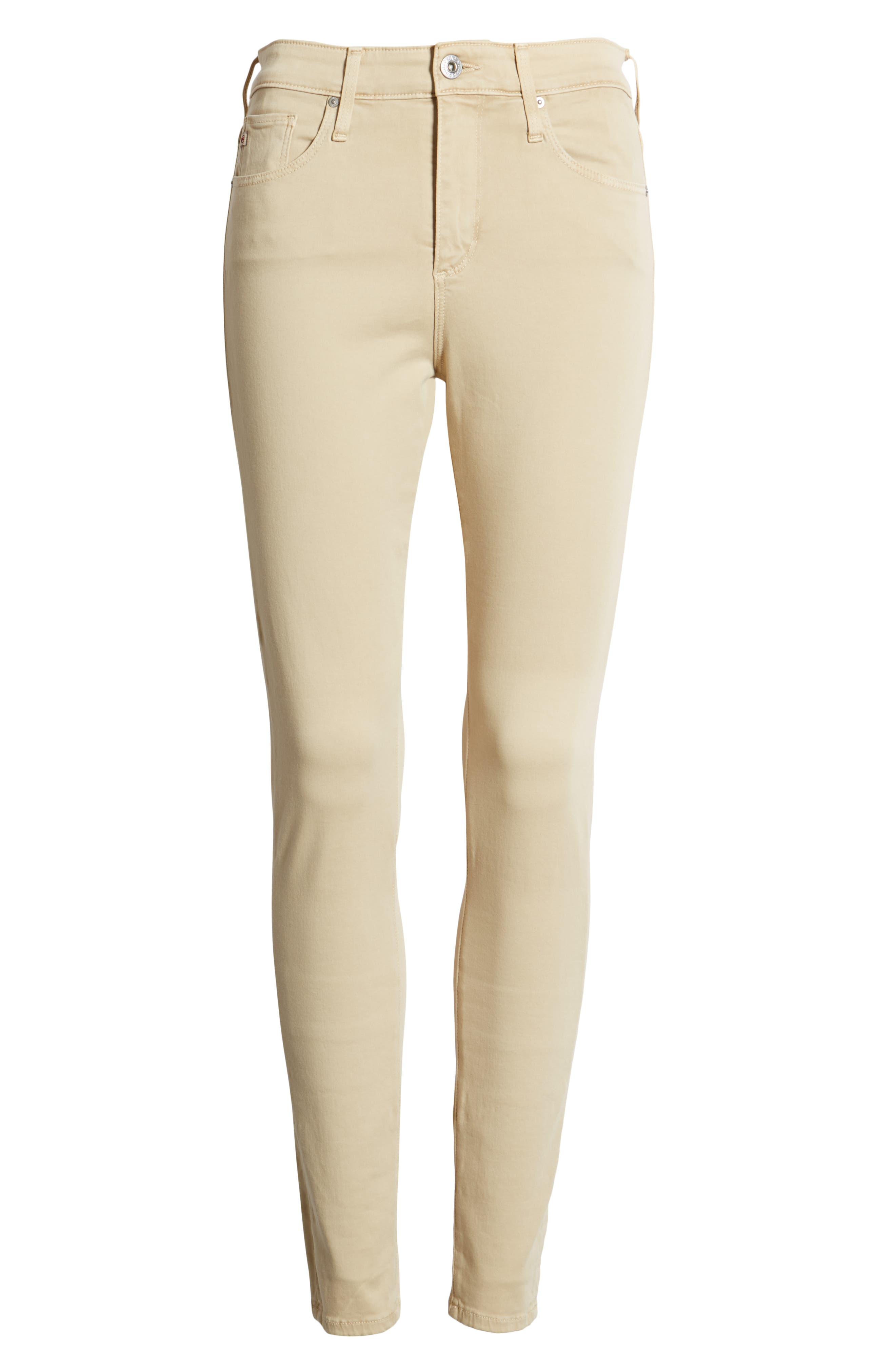 Farrah High Waist Ankle Skinny Jeans,                             Alternate thumbnail 7, color,                             SULFUR FRESH SAND