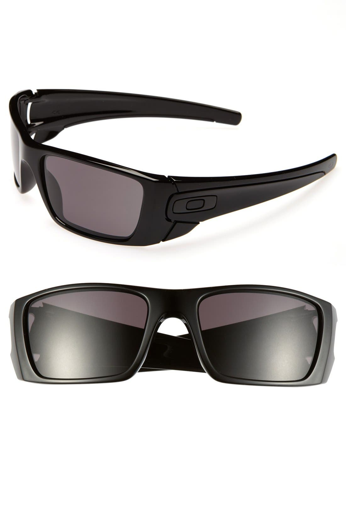 'Fuel Cell' 60mm Sunglasses,                             Main thumbnail 1, color,                             POLISHED BLACK