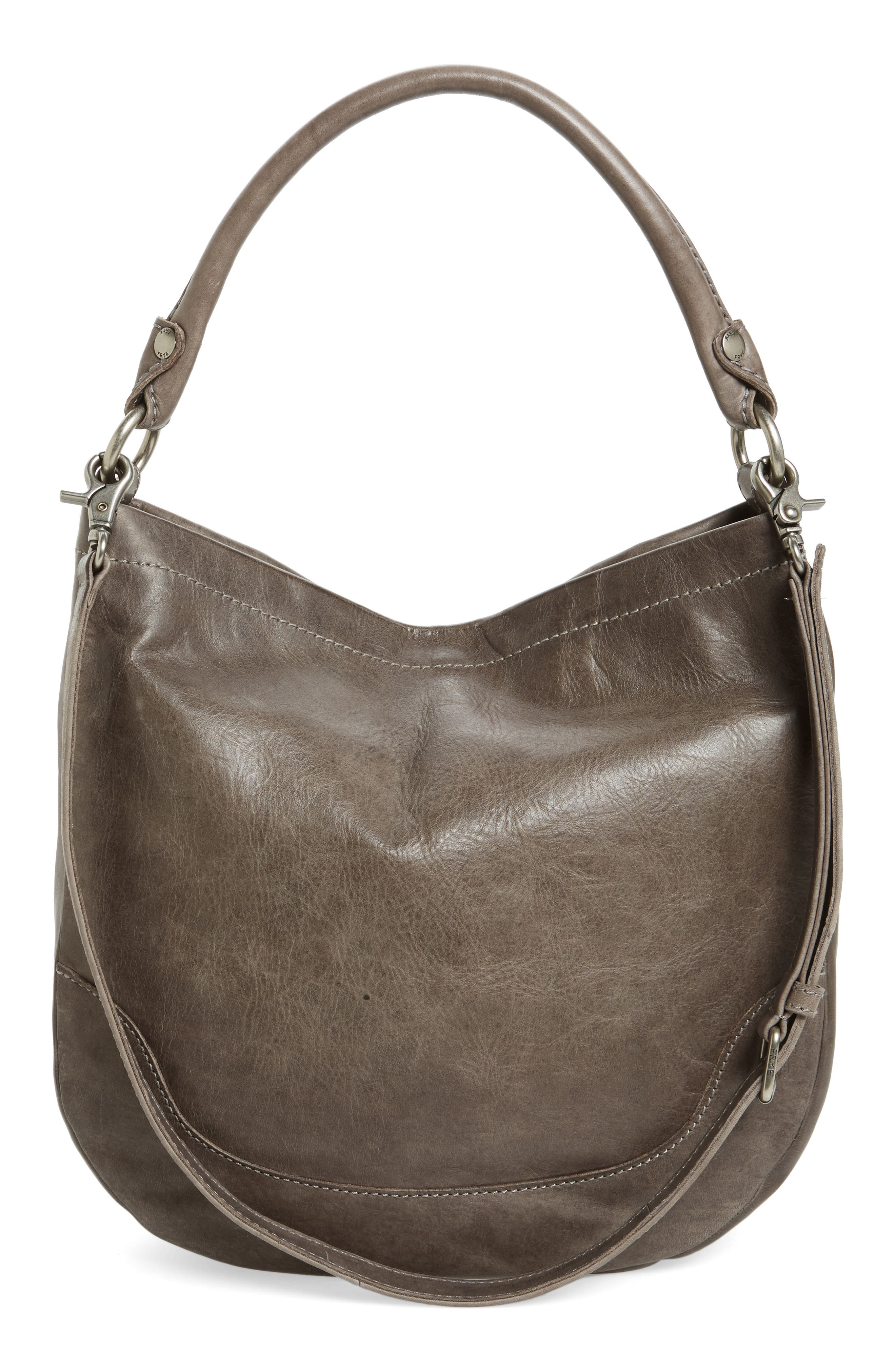 Melissa Leather Hobo,                             Alternate thumbnail 3, color,                             ICE