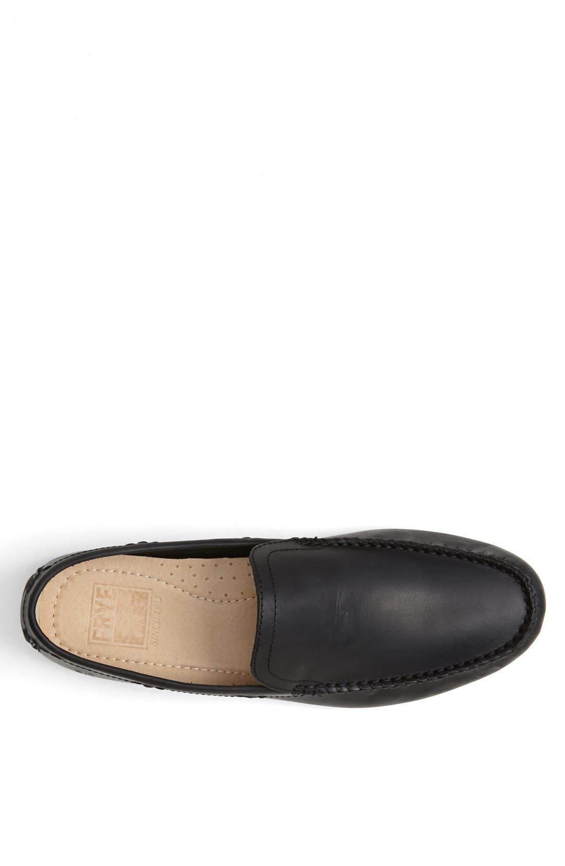 'Lewis' Venetian Loafer,                             Alternate thumbnail 3, color,                             BLACK