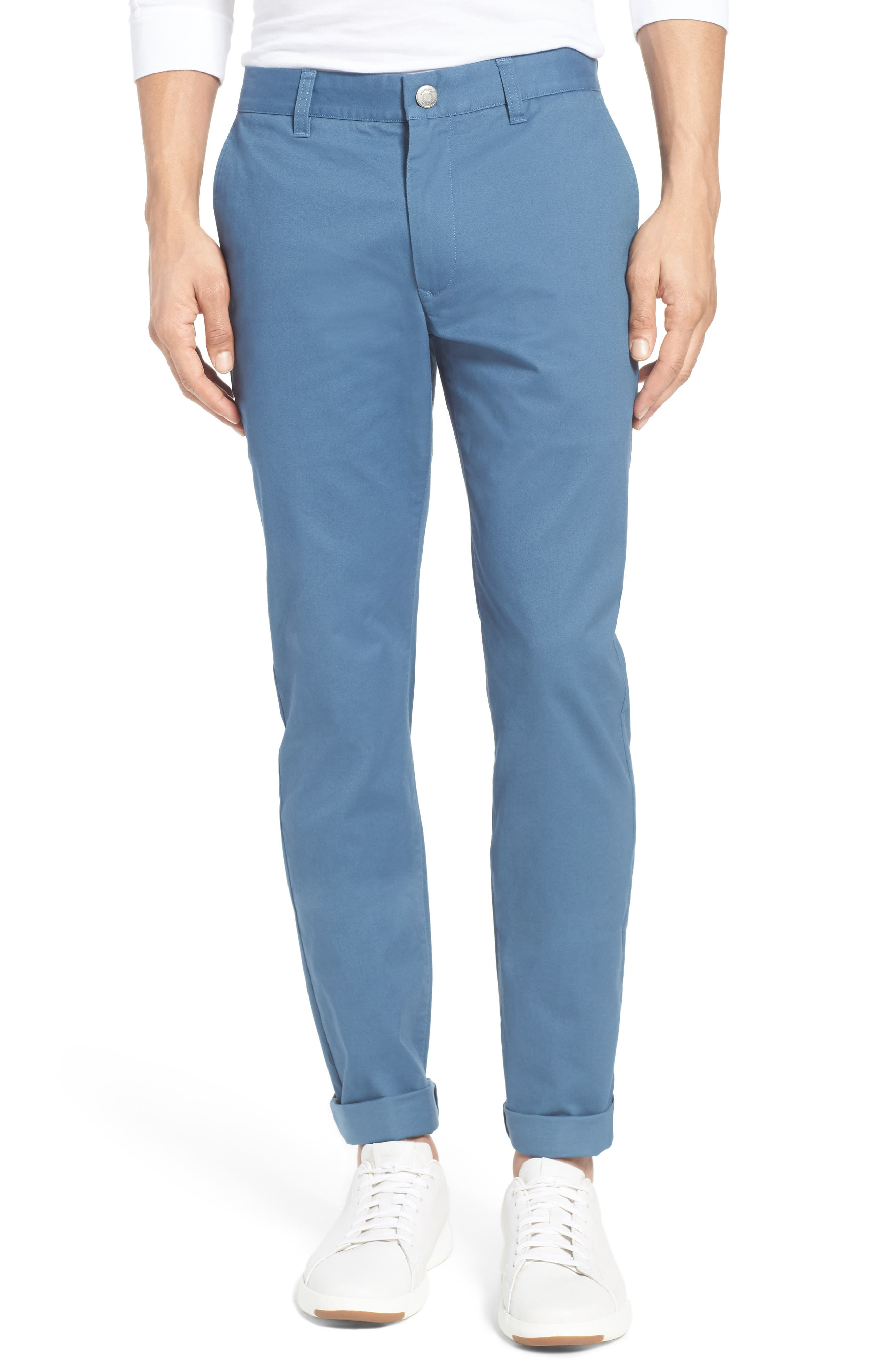 Tailored Fit Washed Stretch Cotton Chinos,                             Main thumbnail 33, color,