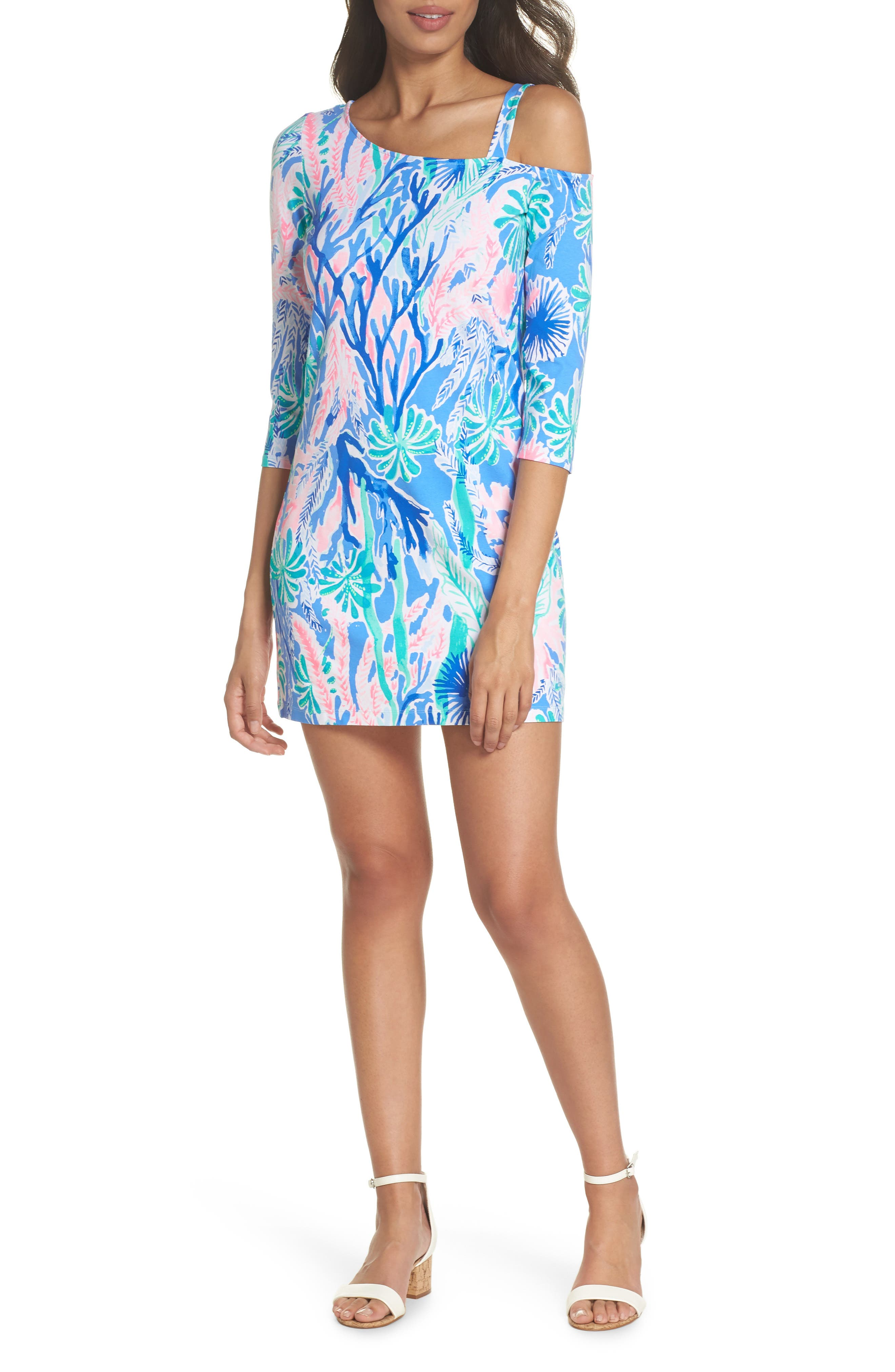 One-Shoulder Minidress,                             Alternate thumbnail 6, color,                             400
