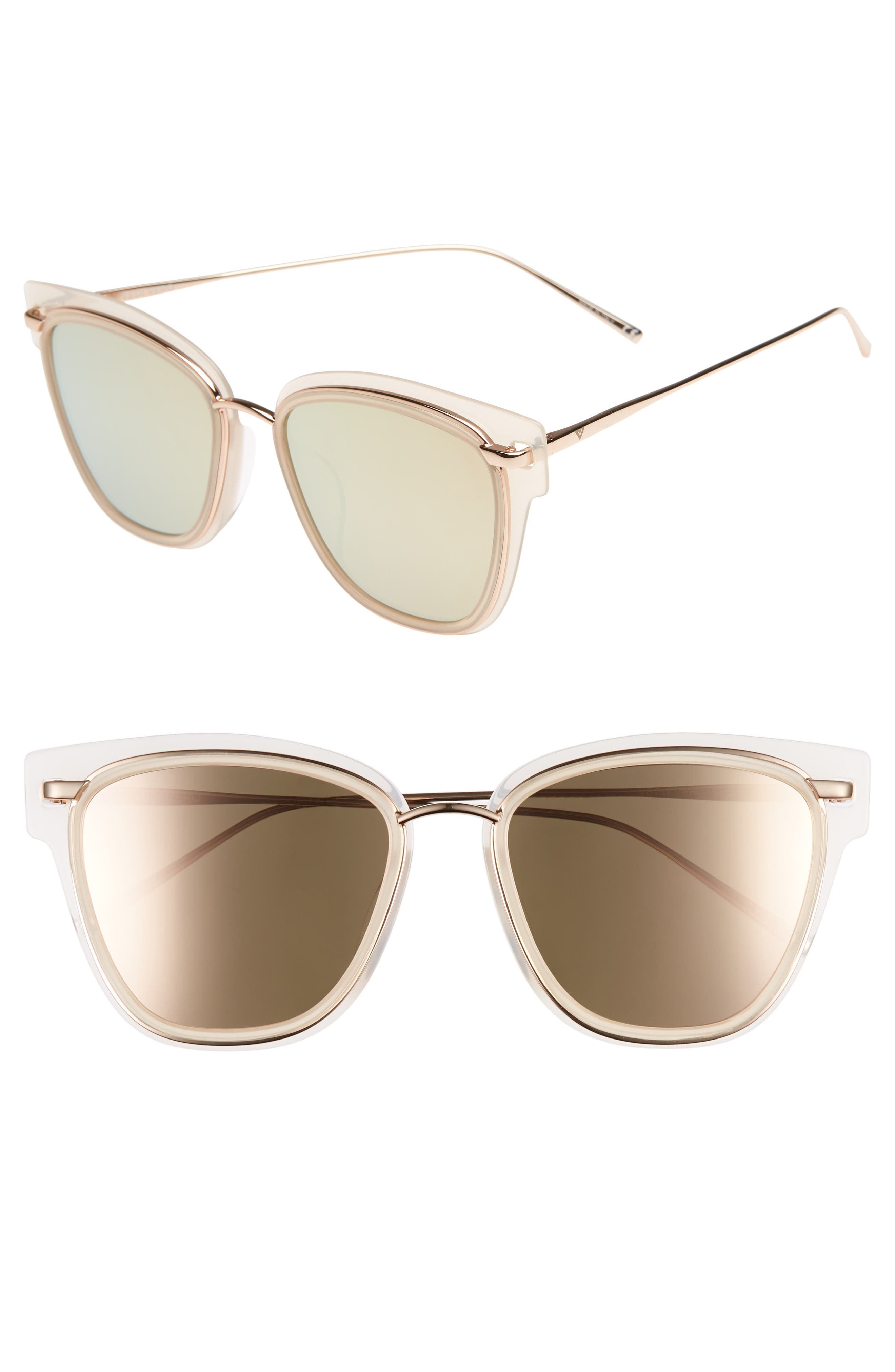 VEDI VERO 56Mm Square Sunglasses - Gold/ Peach