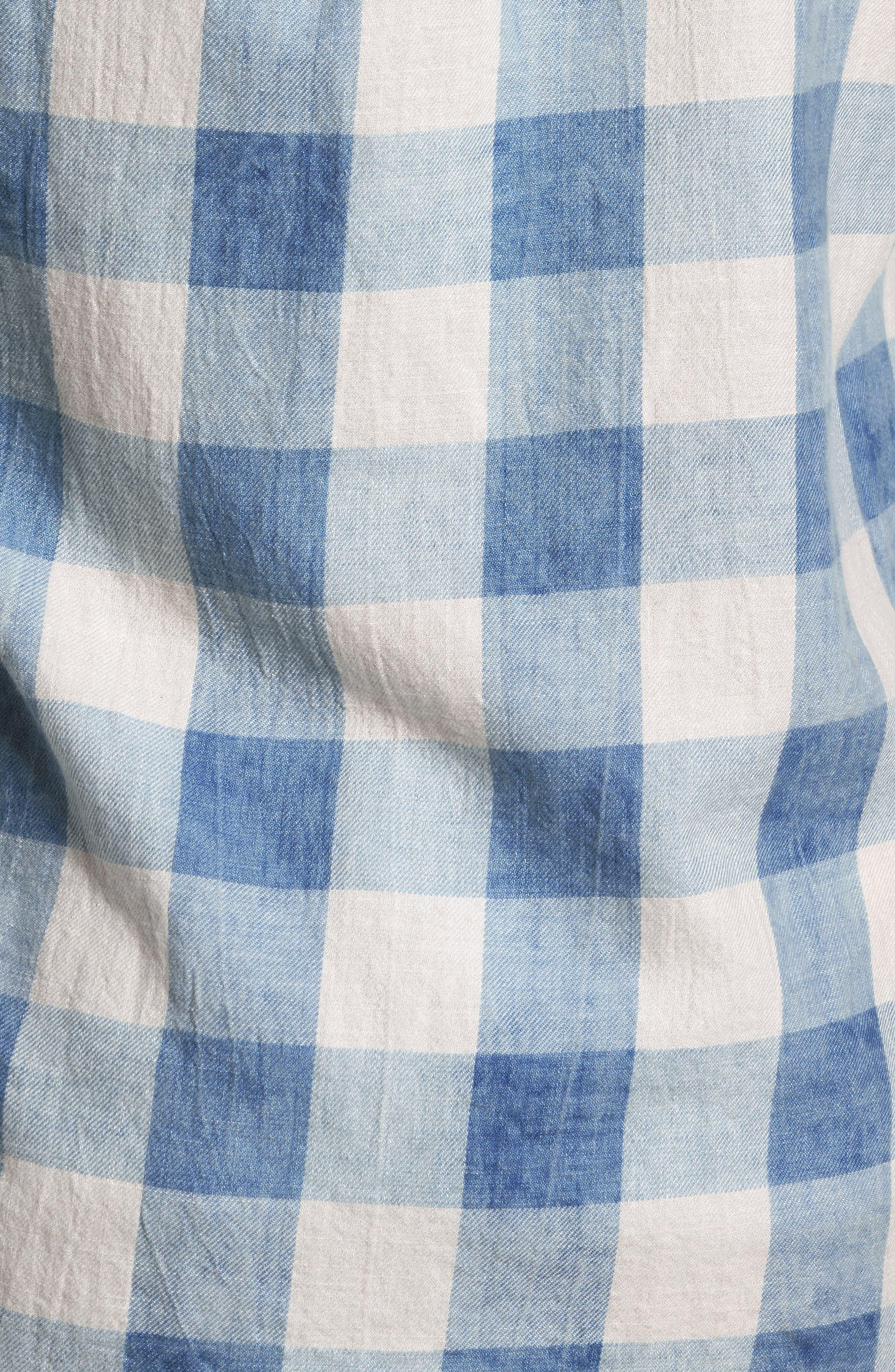 Amsterdams Blauw Check Shirt,                             Alternate thumbnail 5, color,                             400