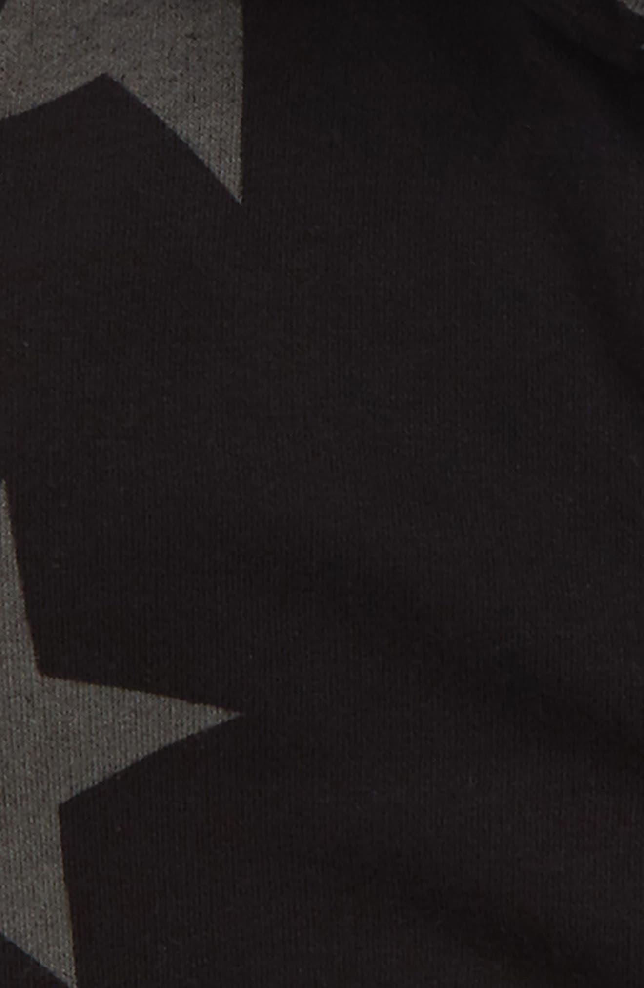 NUNUNU,                             Star Print Zip Hoodie,                             Alternate thumbnail 2, color,                             001