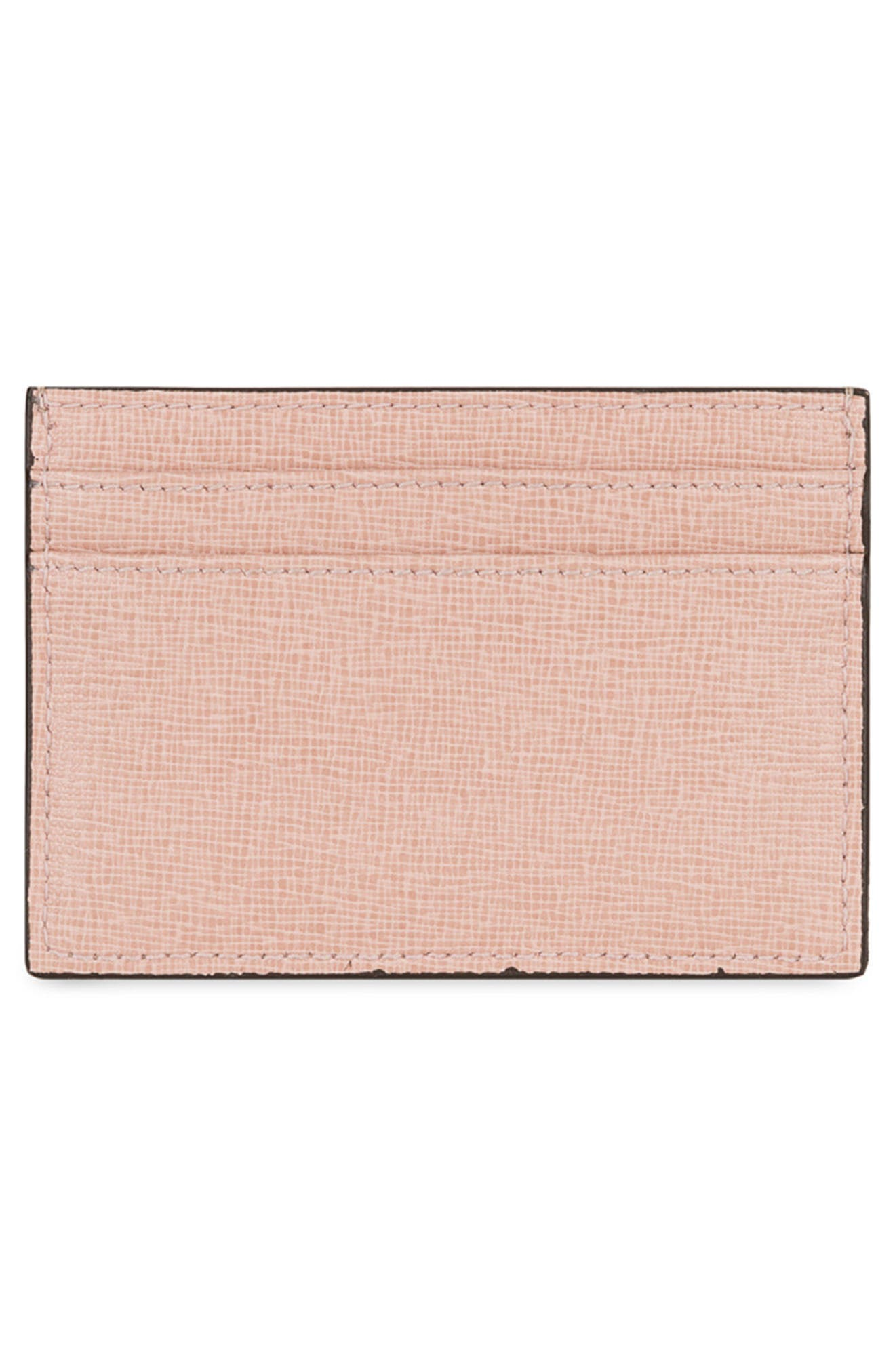 Babylon Saffiano Leather Card Case,                             Alternate thumbnail 2, color,                             250