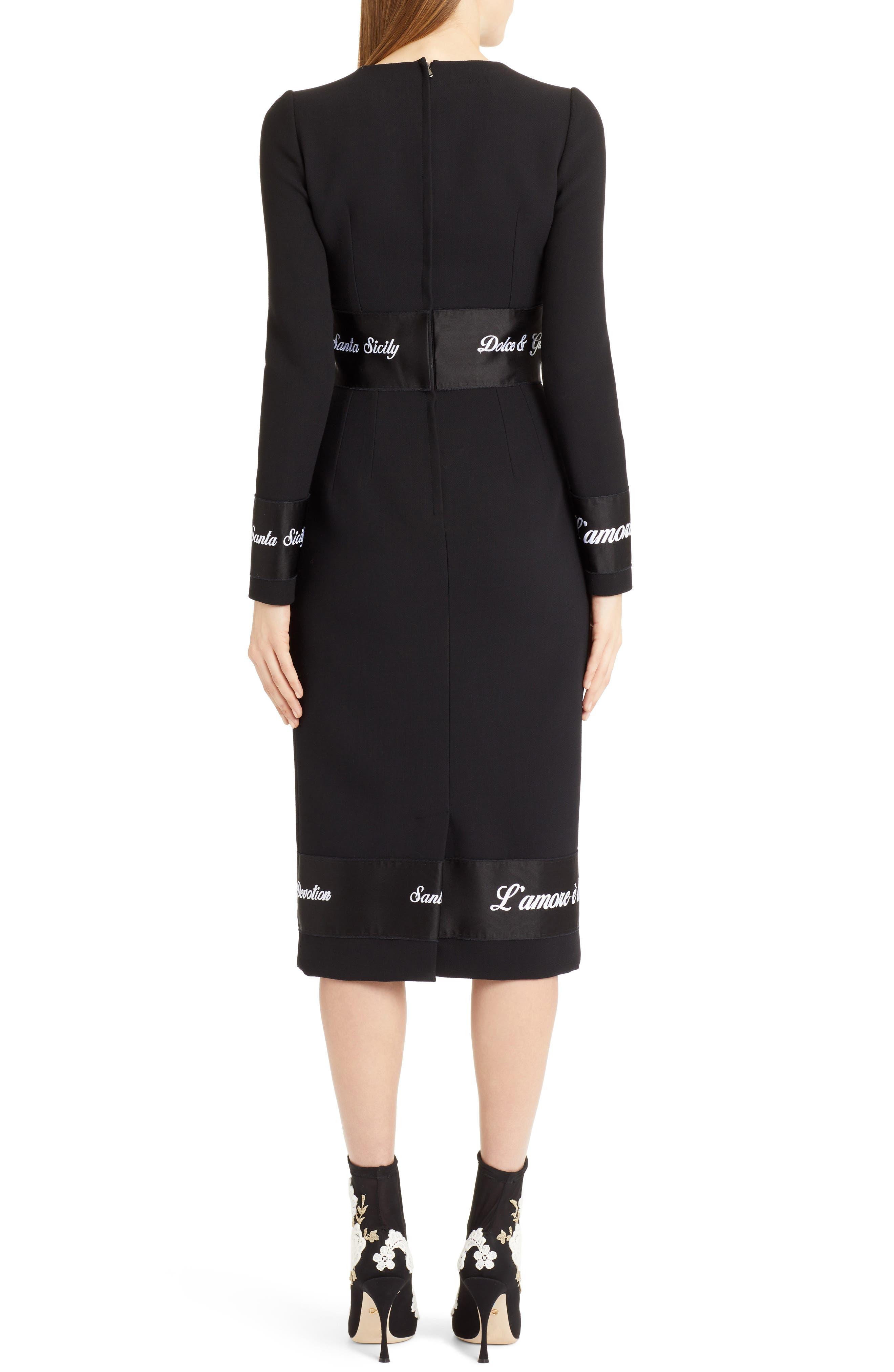 Fashion Devotion Sheath Dress,                             Alternate thumbnail 2, color,                             BLACK