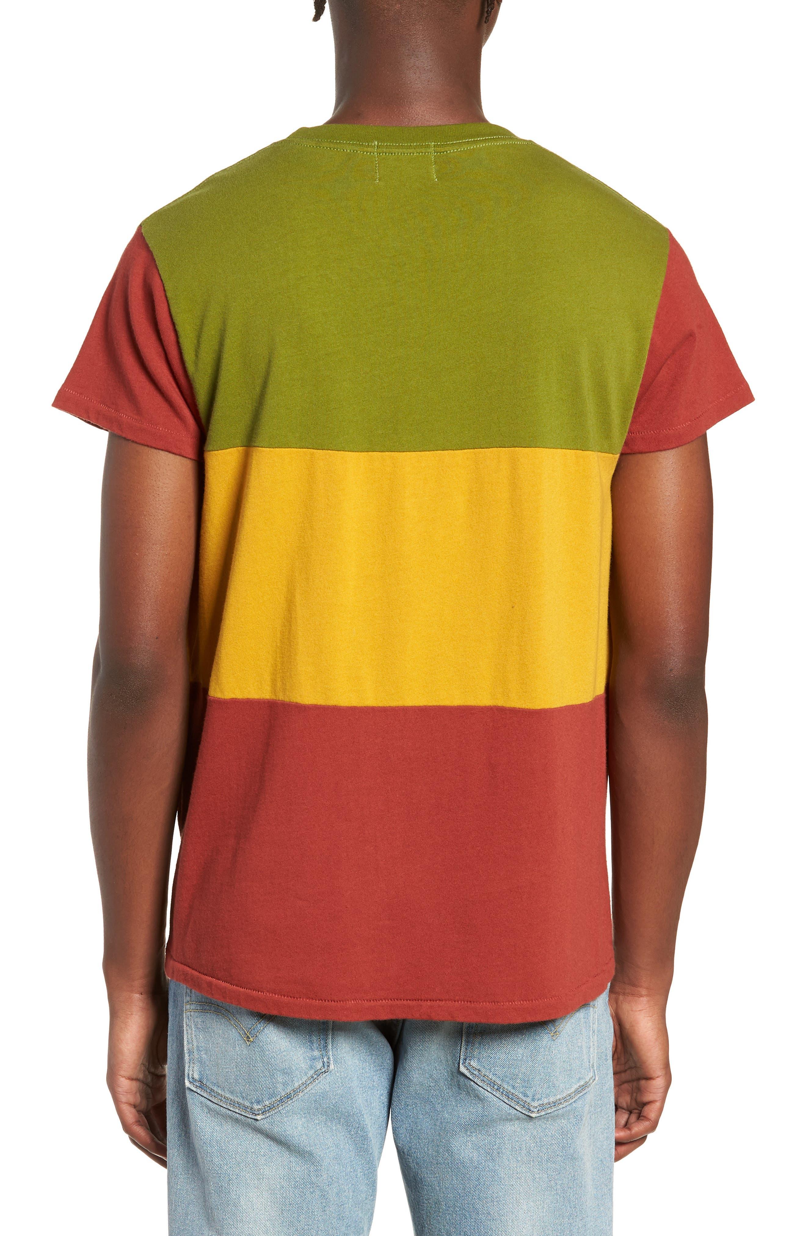 1950s Slim Fit Colorblock T-Shirt,                             Alternate thumbnail 2, color,                             3 WAY MULTI STRIPE