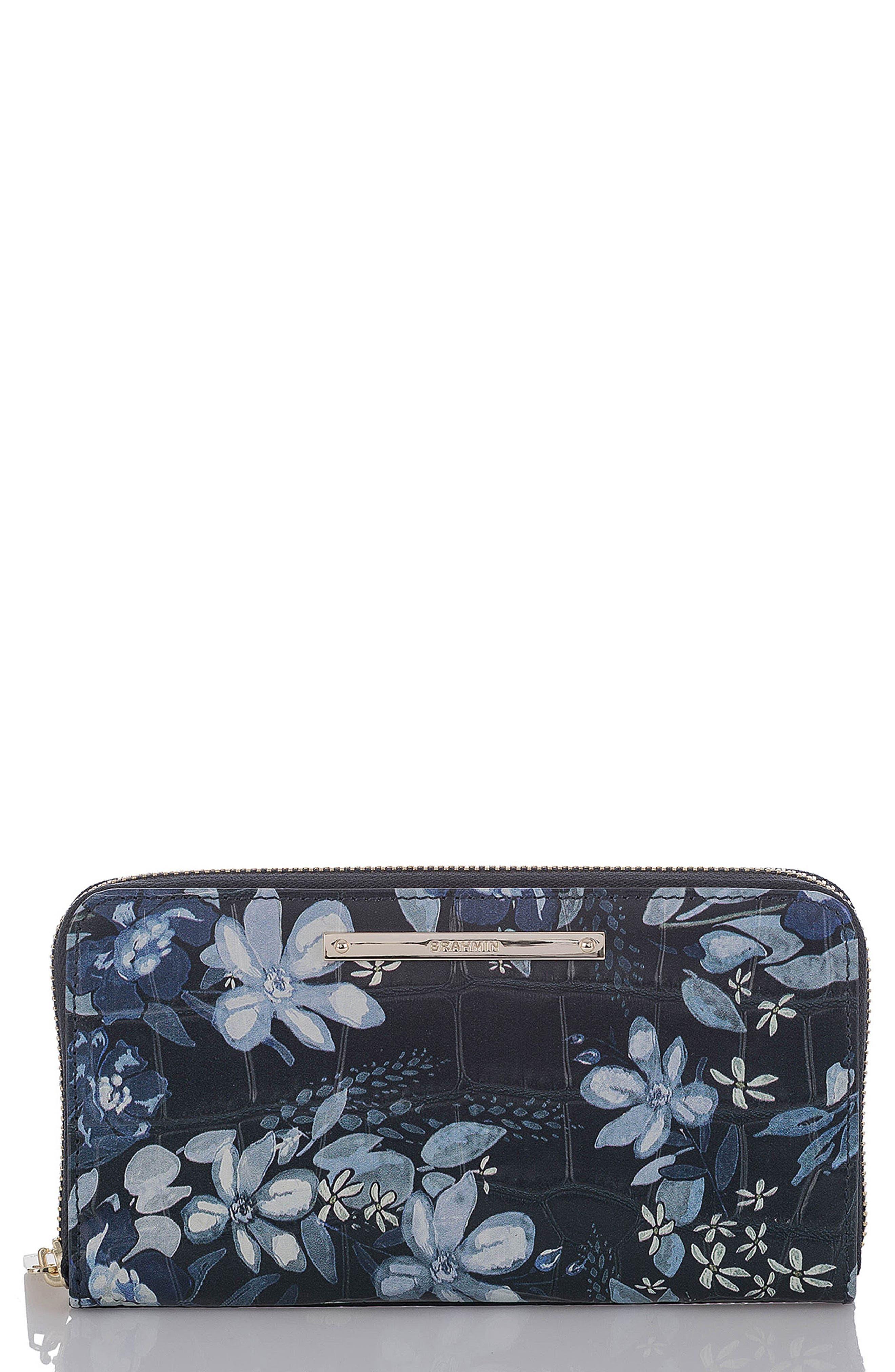 Suri Leather Zip Around Wallet,                         Main,                         color,