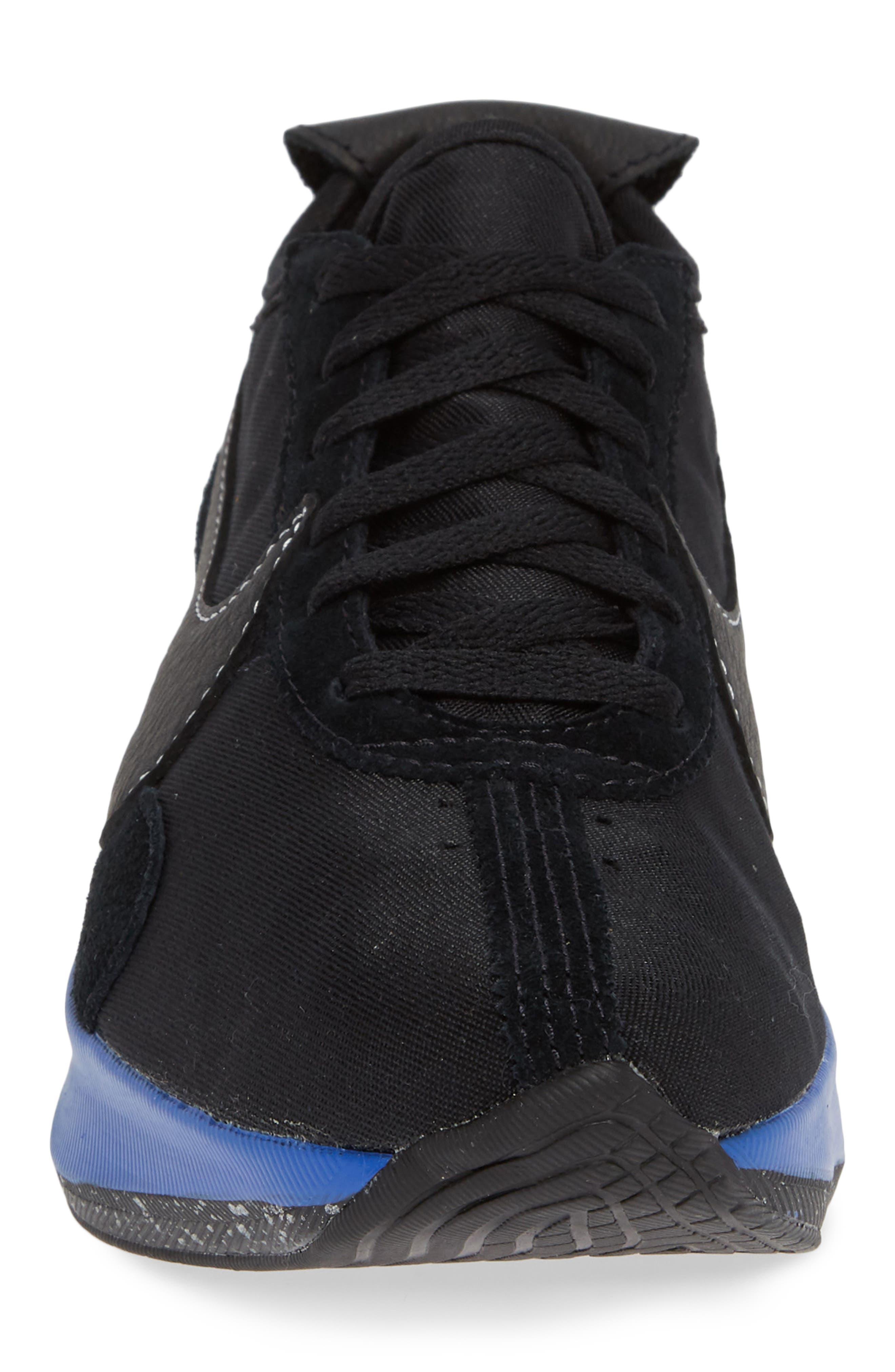 NIKE,                             Moon Racer QS Sneaker,                             Alternate thumbnail 4, color,                             001