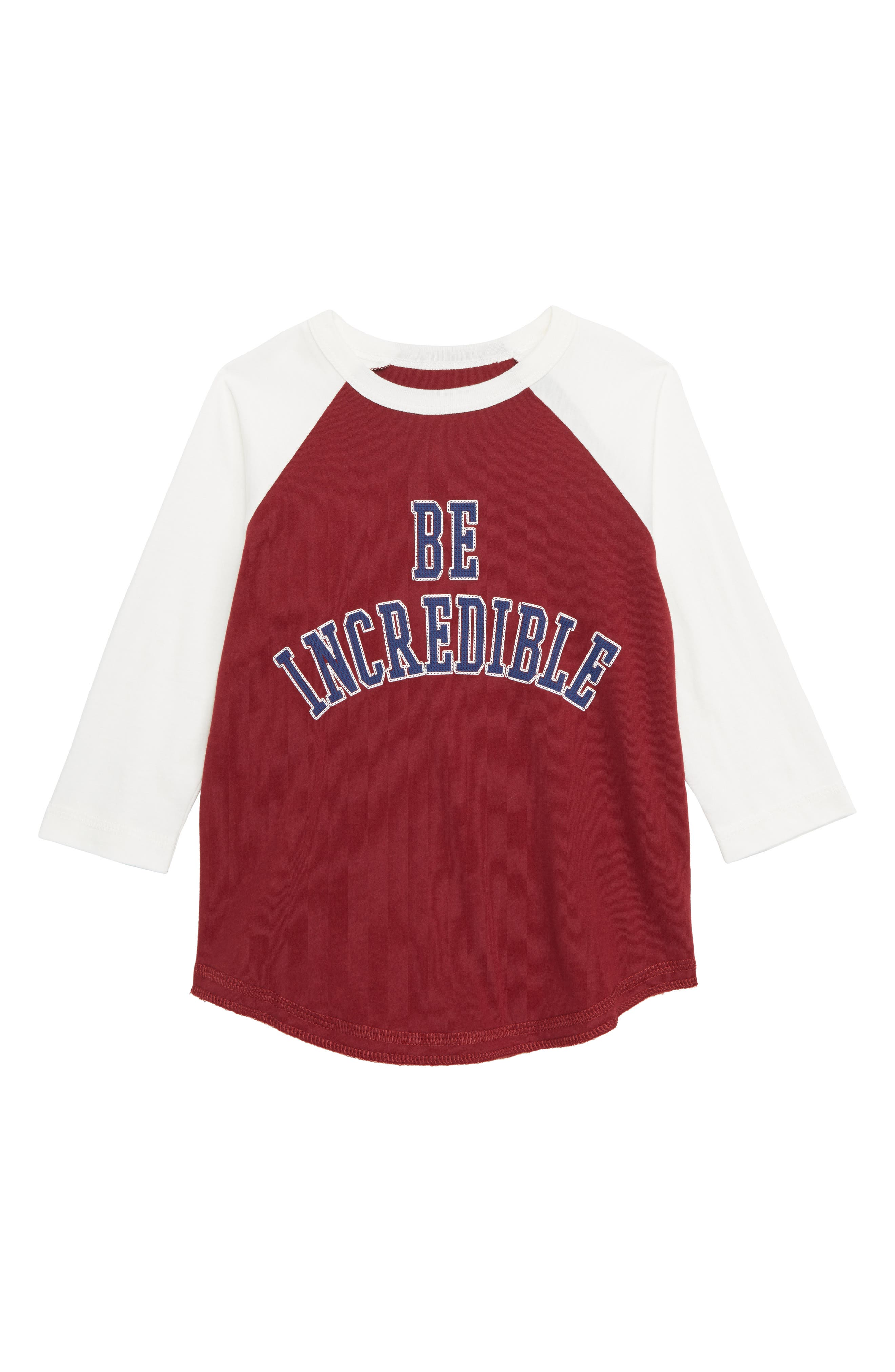 Peek Be Incredible Graphic Baseball T-Shirt,                         Main,                         color, 930