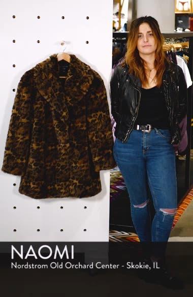 Amice Leopard Spot Faux Fur Jacket, sales video thumbnail