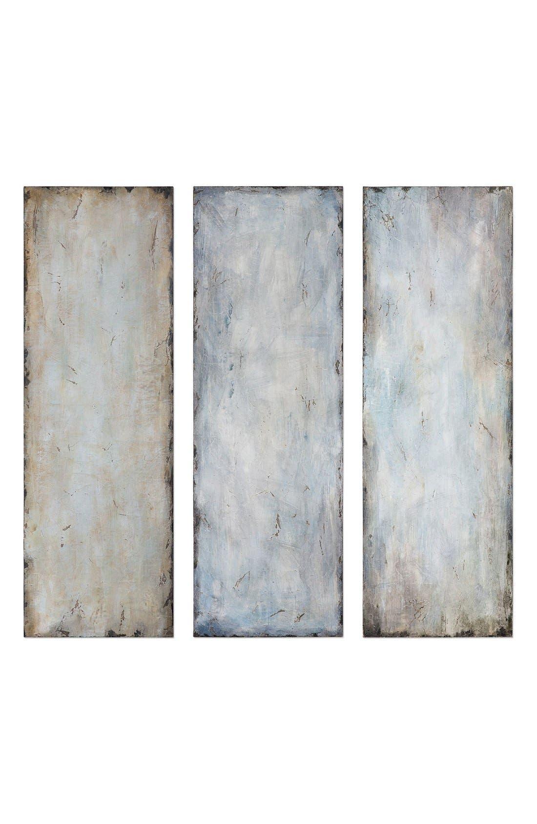 'Textured Trio' Abstract Wall Art,                             Main thumbnail 1, color,                             400