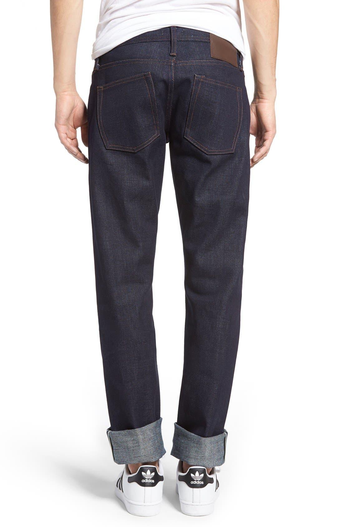 UB121 Selvedge Skinny Fit Jeans,                             Alternate thumbnail 2, color,                             401