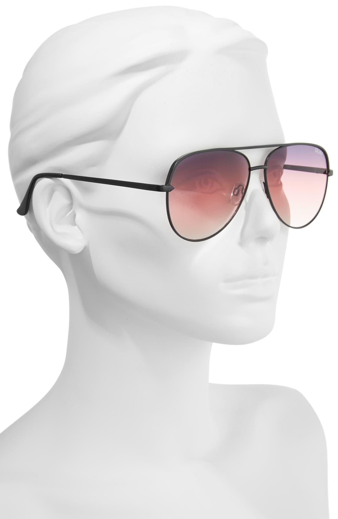 x Desi Perkins Sahara 60mm Aviator Sunglasses,                             Alternate thumbnail 2, color,                             BLACK/ PURPLE/ FADE