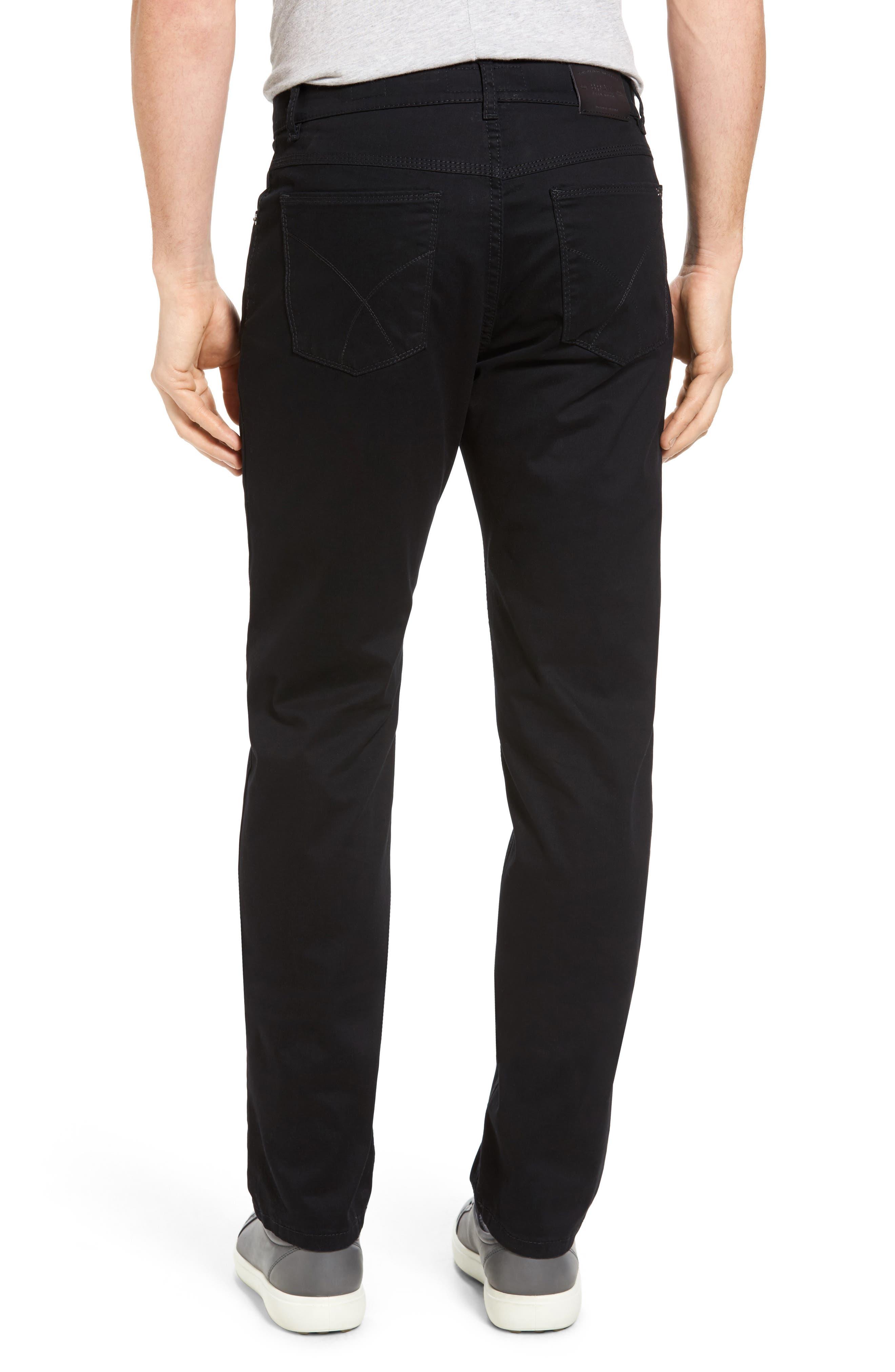 Cooper Prestige Stretch Cotton Pants,                             Alternate thumbnail 3, color,                             PERMA BLACK
