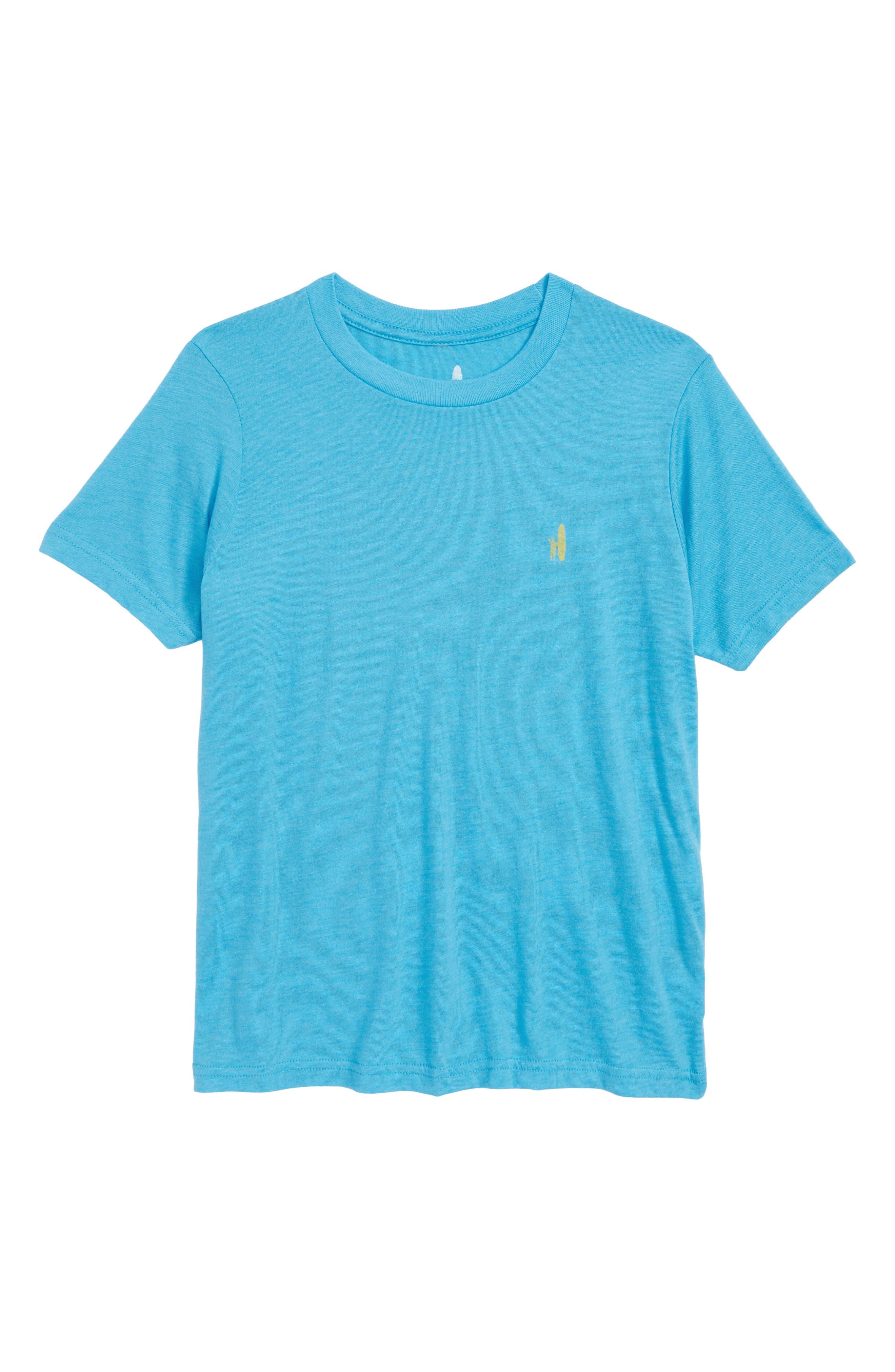 Shore Break T-Shirt,                         Main,                         color, LAGUNA BLUE