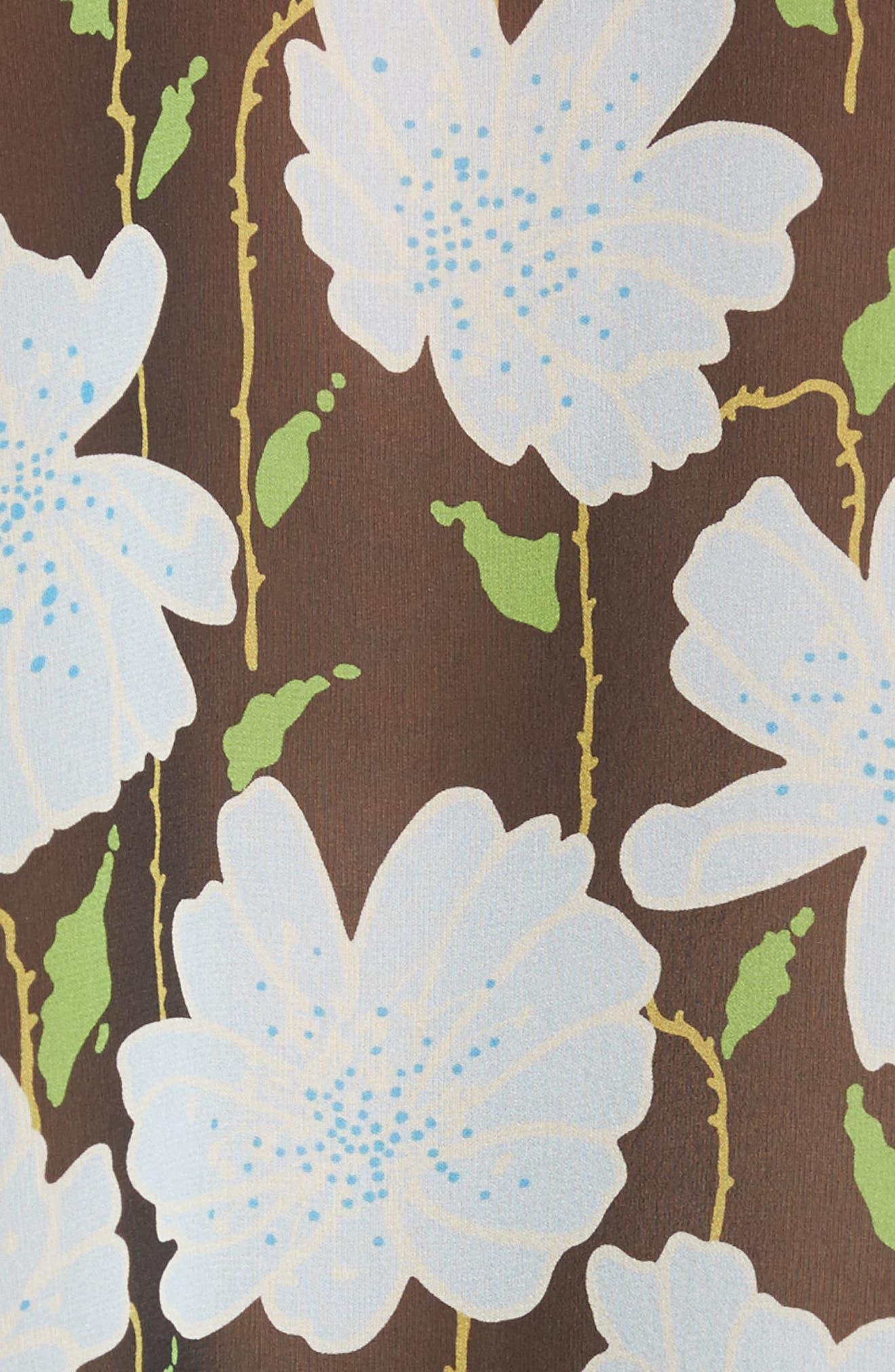 Floral Asymmetrical Silk Shirt,                             Alternate thumbnail 5, color,                             300