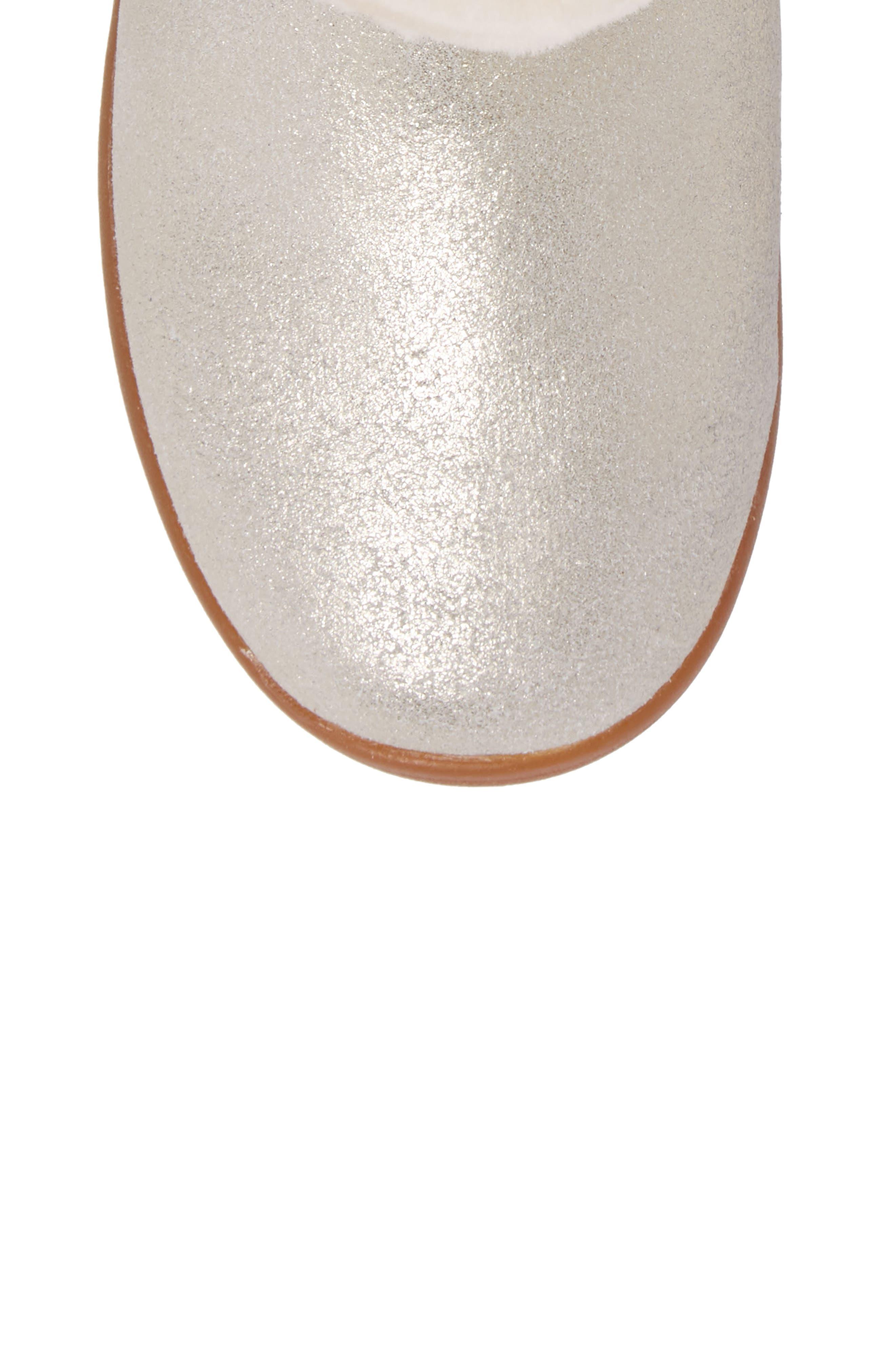 Jorie II Genuine Shearling Metallic Boot,                             Alternate thumbnail 5, color,                             METALLIC GOLD