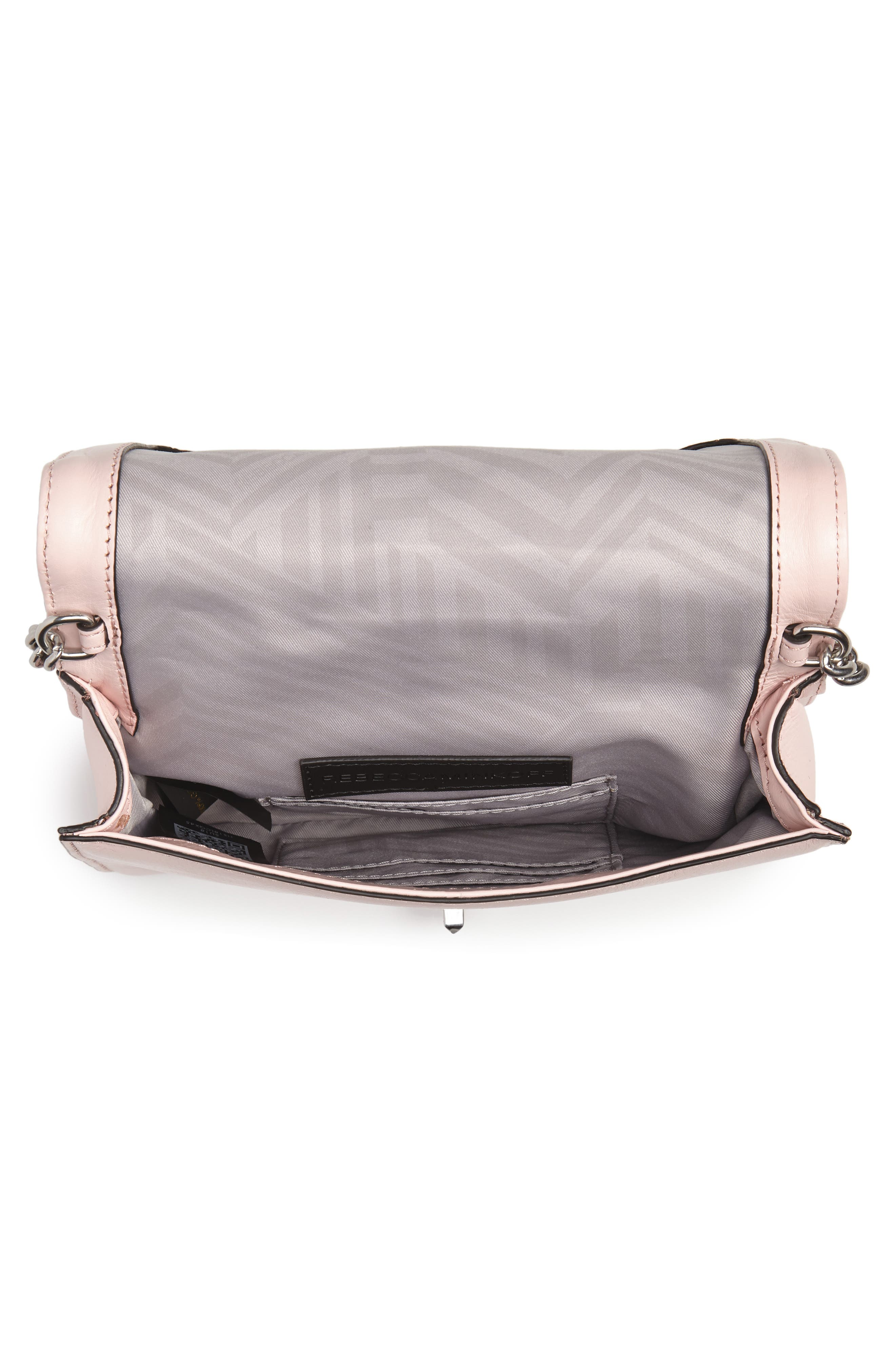 Small Love Leather Crossbody Bag,                             Alternate thumbnail 4, color,                             PEONY