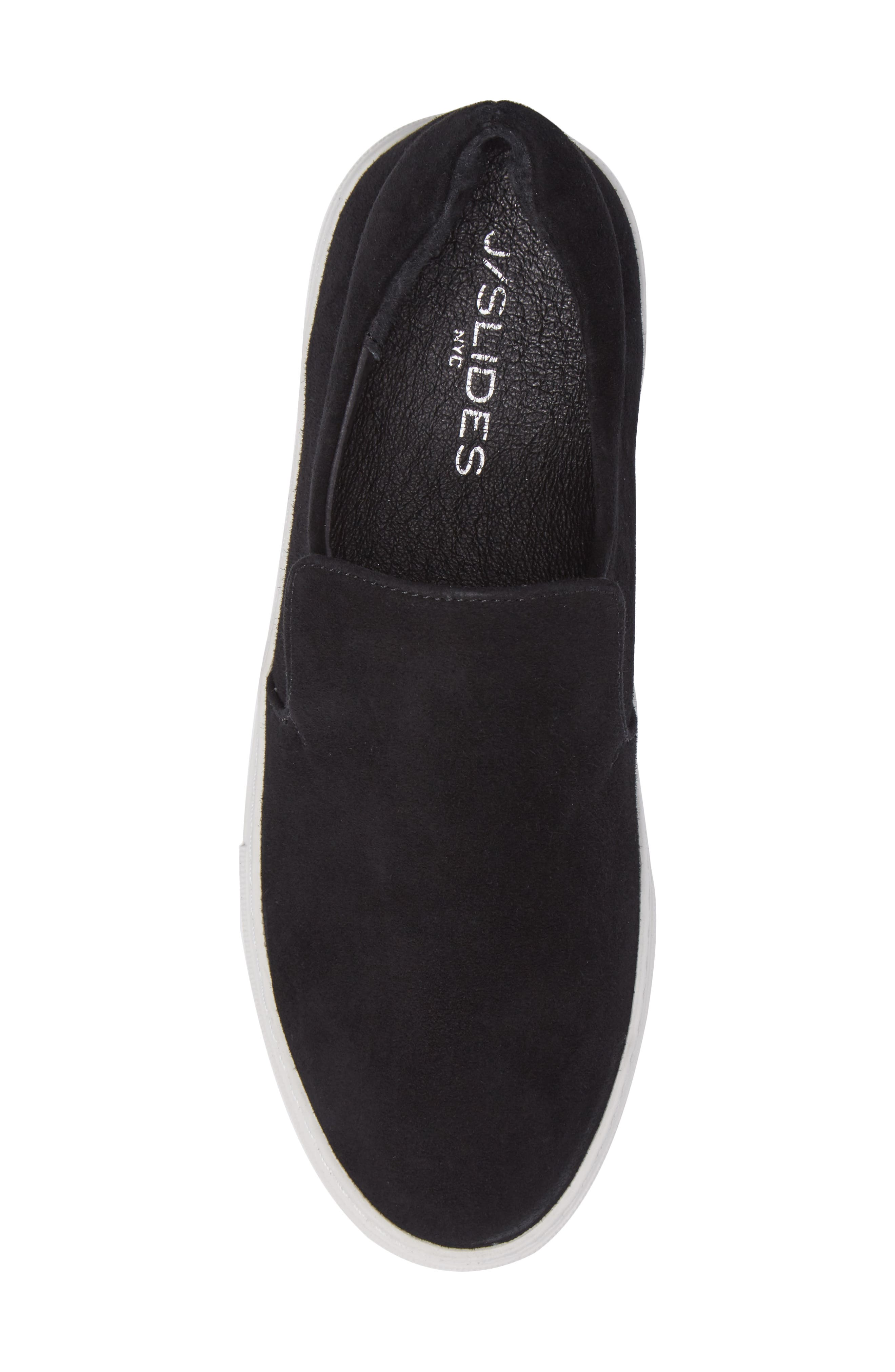 Acer Slip-On Sneaker,                             Alternate thumbnail 5, color,                             BLACK SUEDE