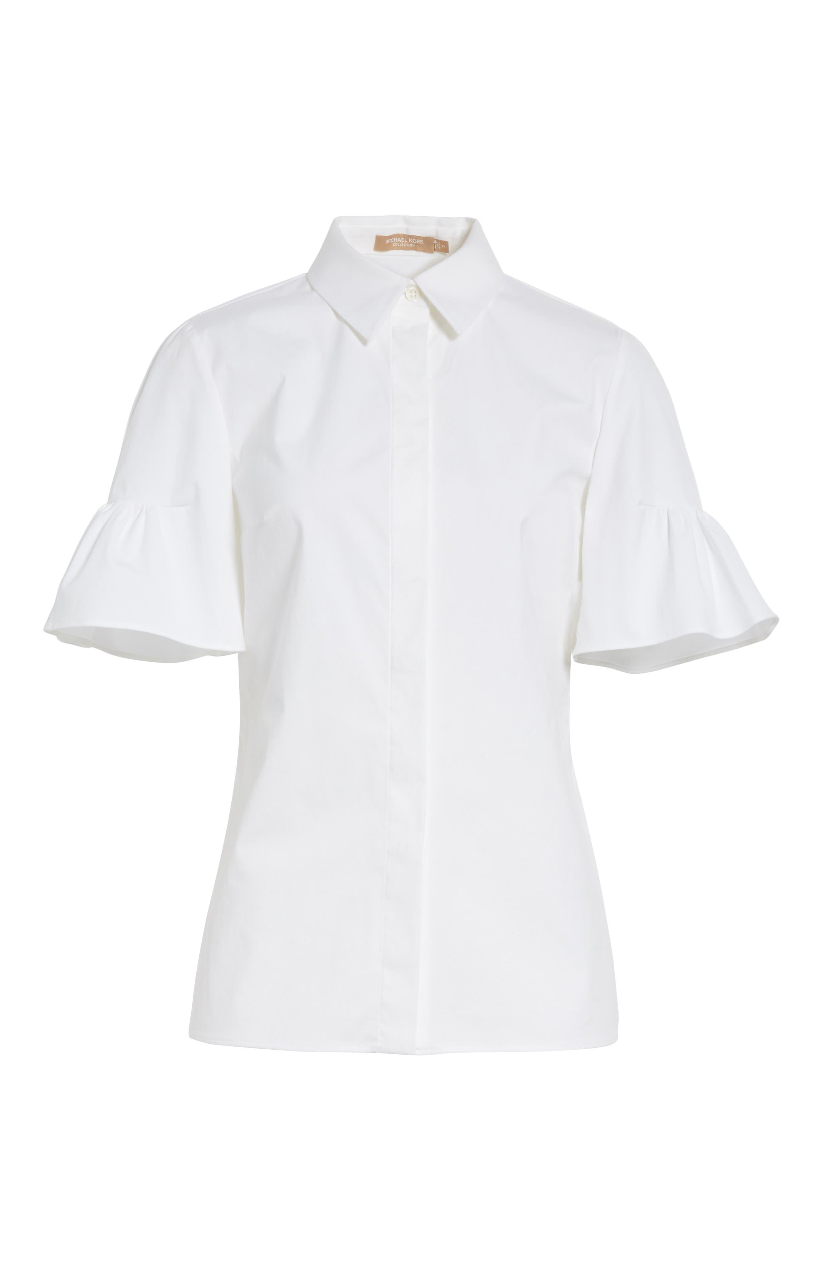 Bell Sleeve Shirt,                             Alternate thumbnail 6, color,                             100