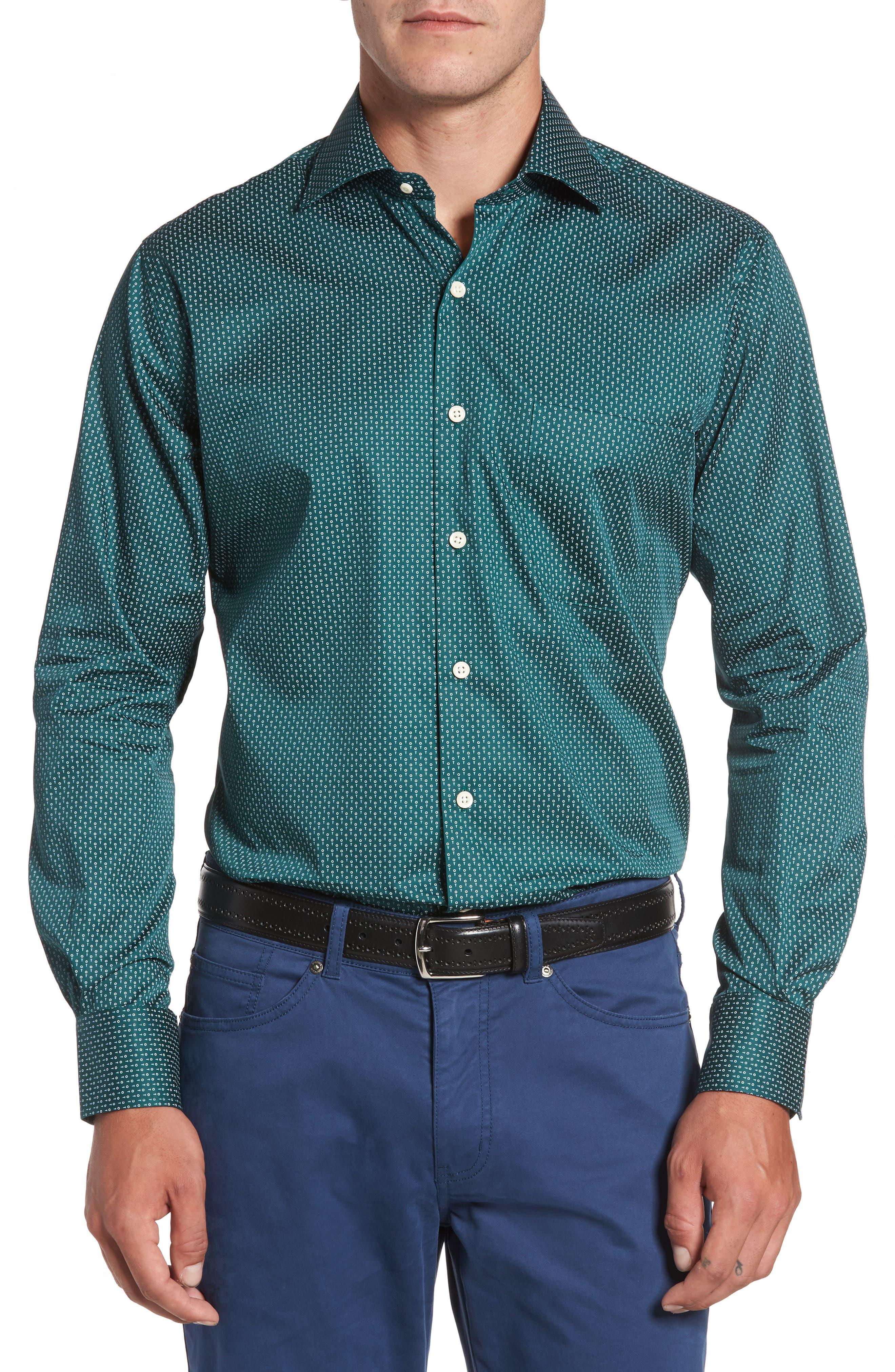 Golf Tee Print Sport Shirt,                             Main thumbnail 1, color,