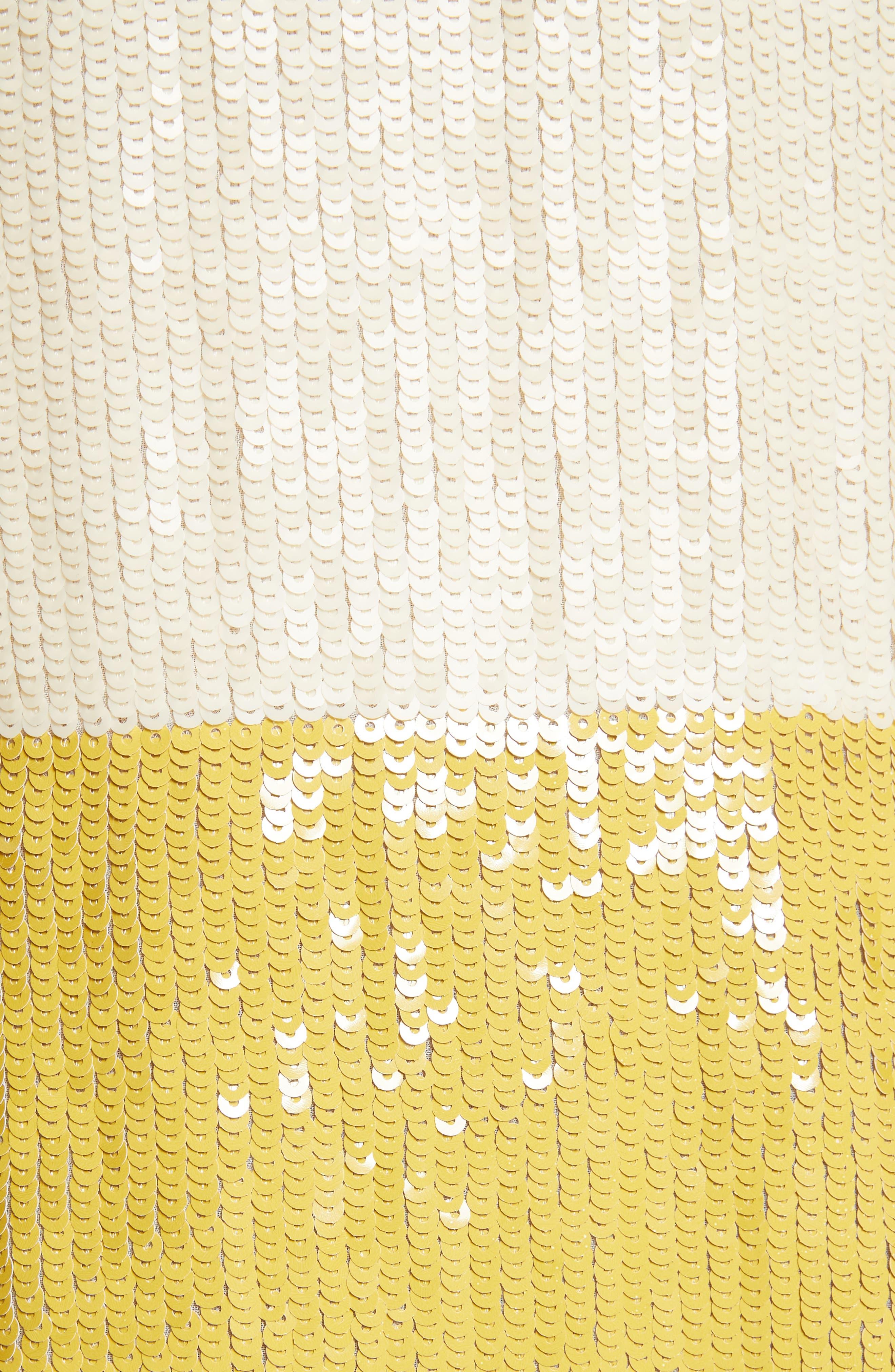 Stripe Sequin Silk Shift Dress,                             Alternate thumbnail 5, color,                             709