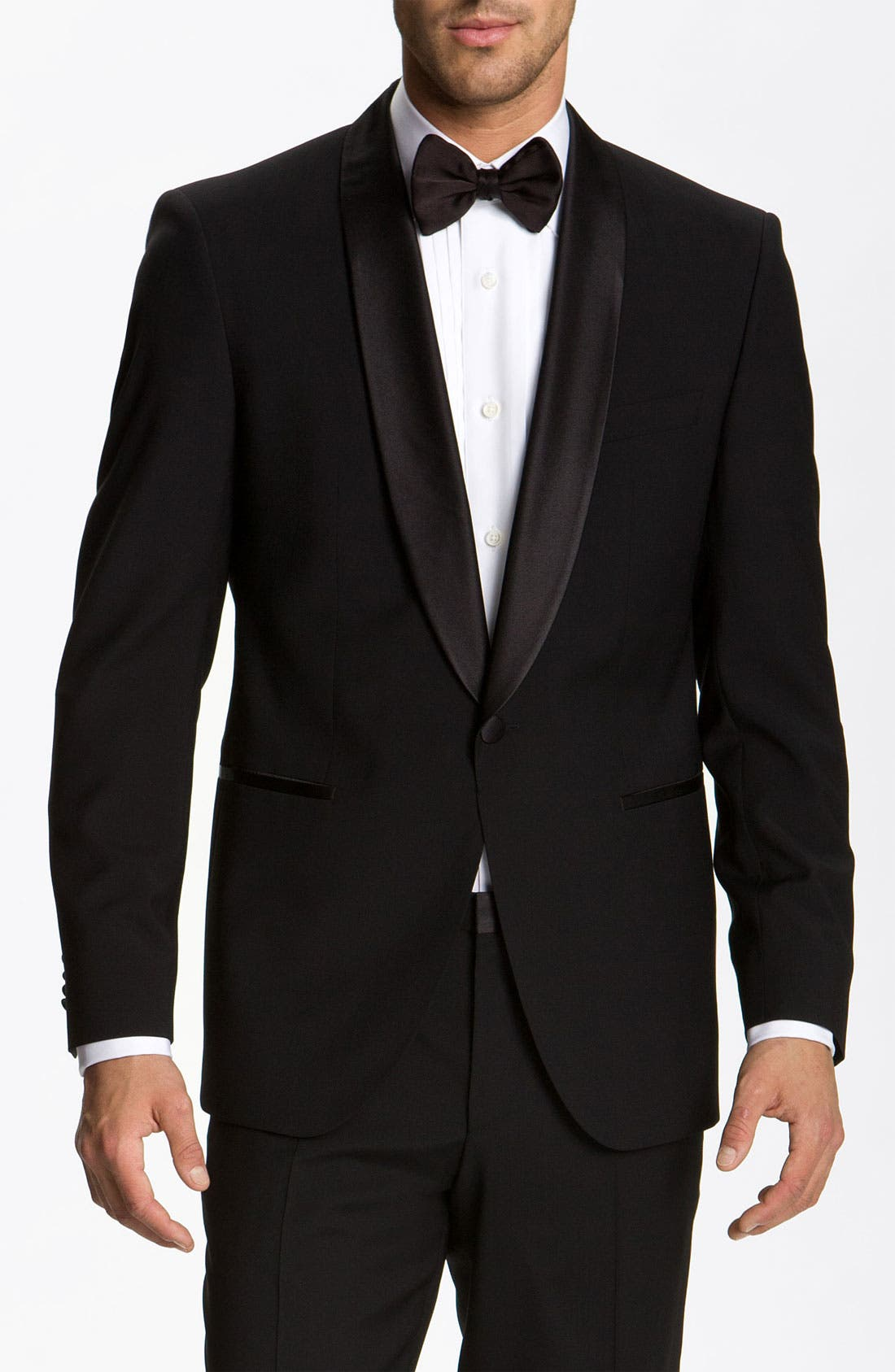 ZZDNUHUGO BOSS,                             BOSS 'Sky Gala' Shawl Lapel Tuxedo,                             Alternate thumbnail 5, color,                             001