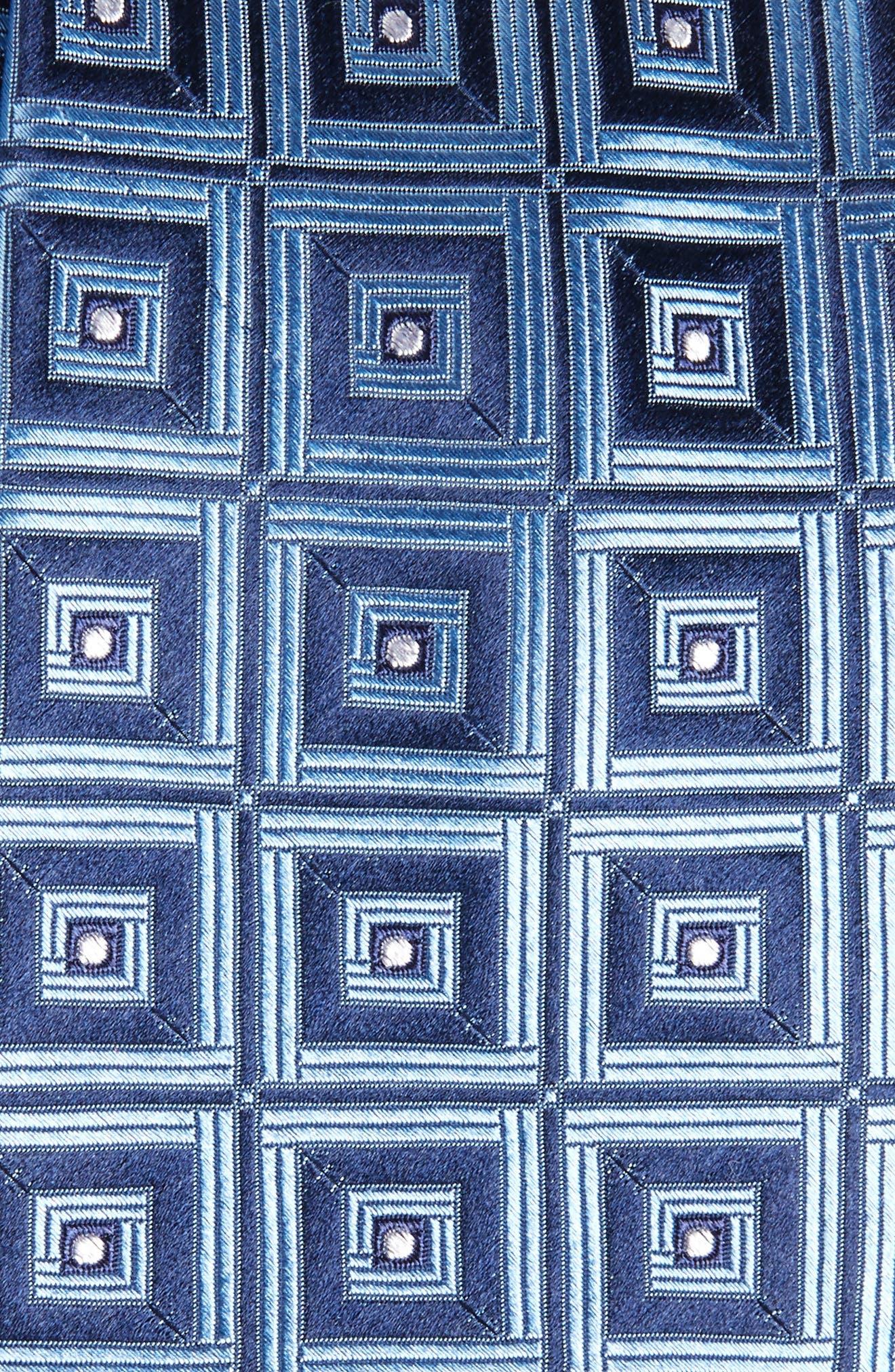 Frame Diamonds Silk Tie,                             Alternate thumbnail 2, color,                             412