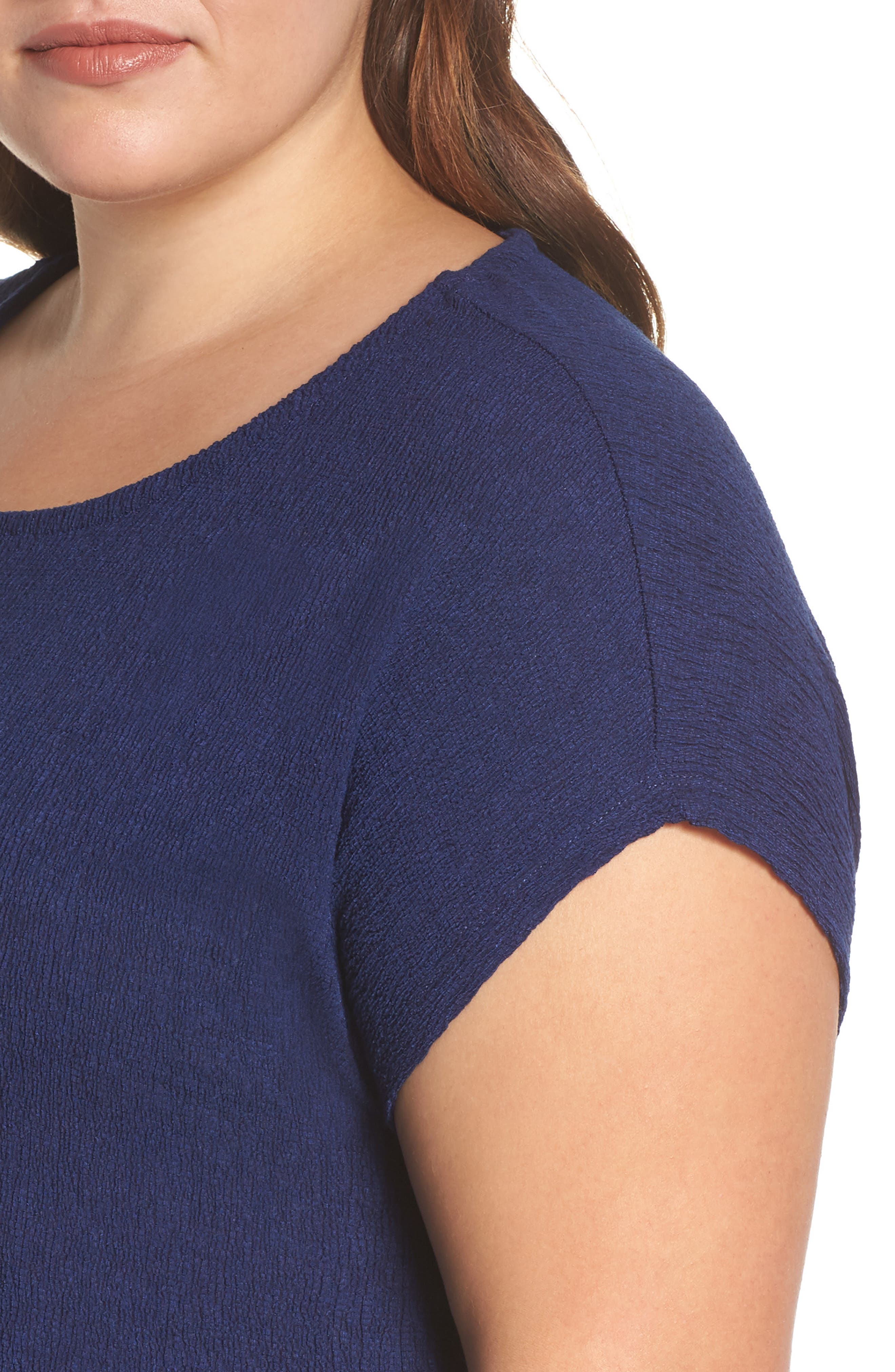 High/Low Crinkle Top,                             Alternate thumbnail 4, color,                             NAVY