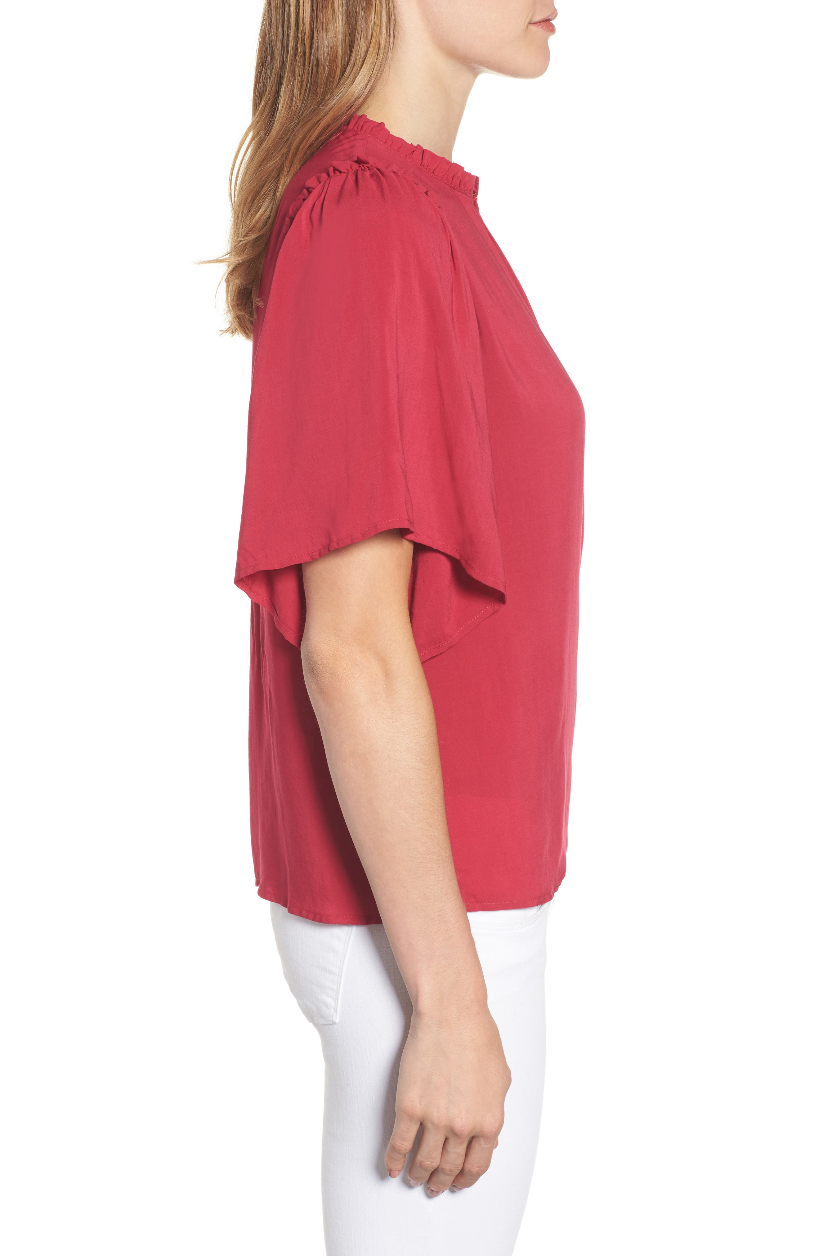 Puff Sleeve Blouse,                             Alternate thumbnail 6, color,