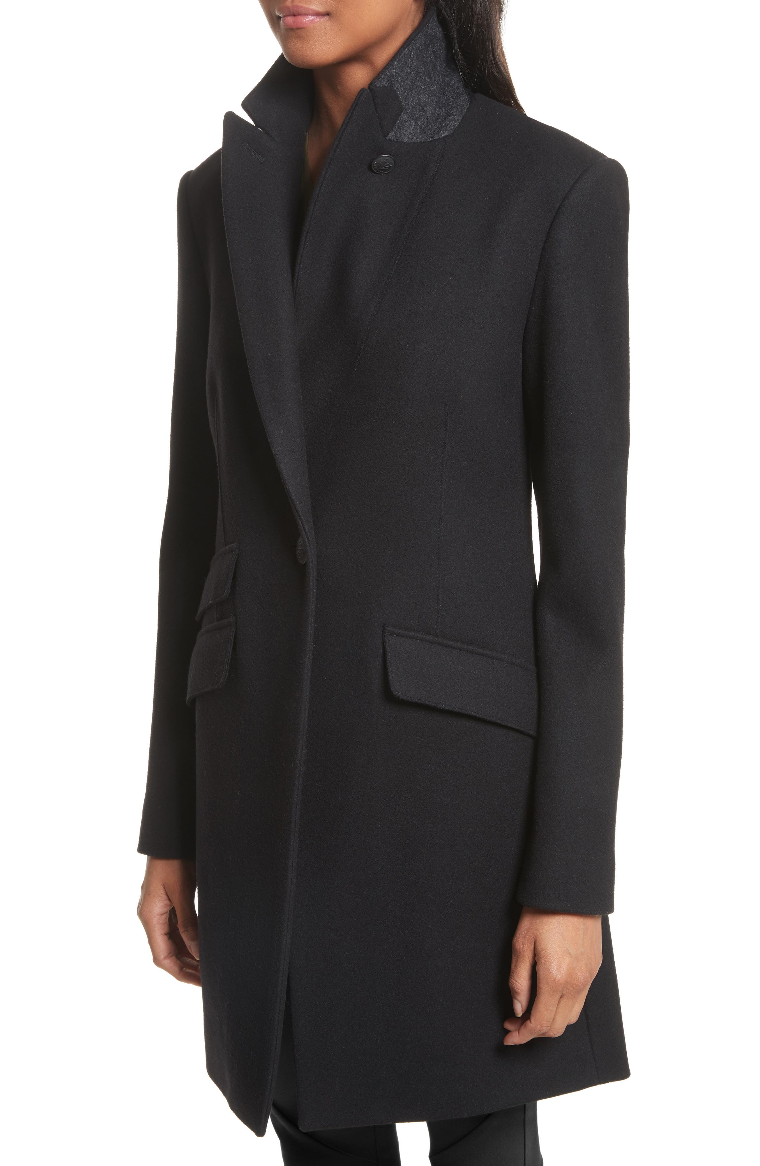 Duchess Wool Blend Coat,                             Alternate thumbnail 4, color,                             001
