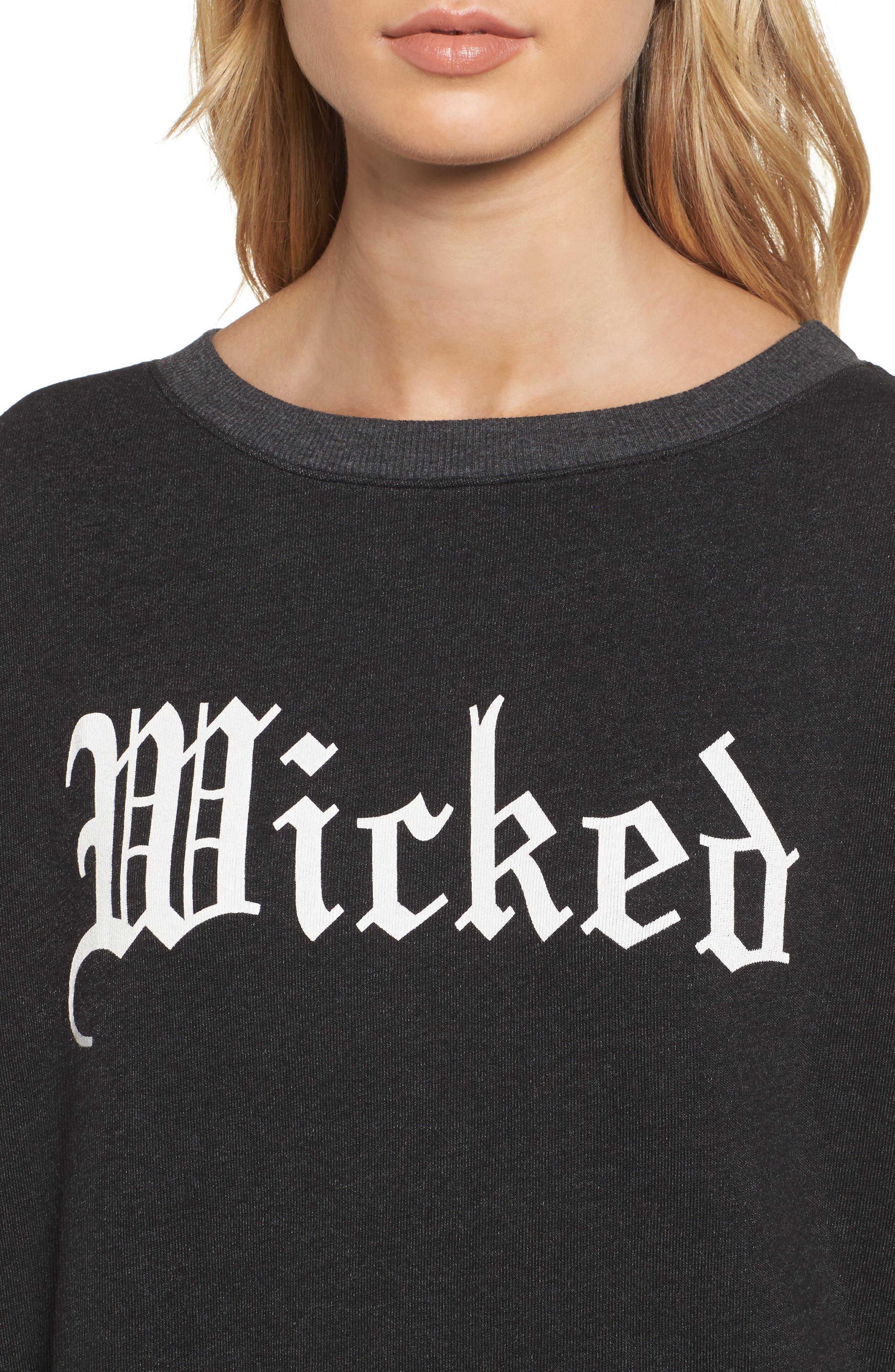 Wicked Sweatshirt,                             Alternate thumbnail 4, color,                             001